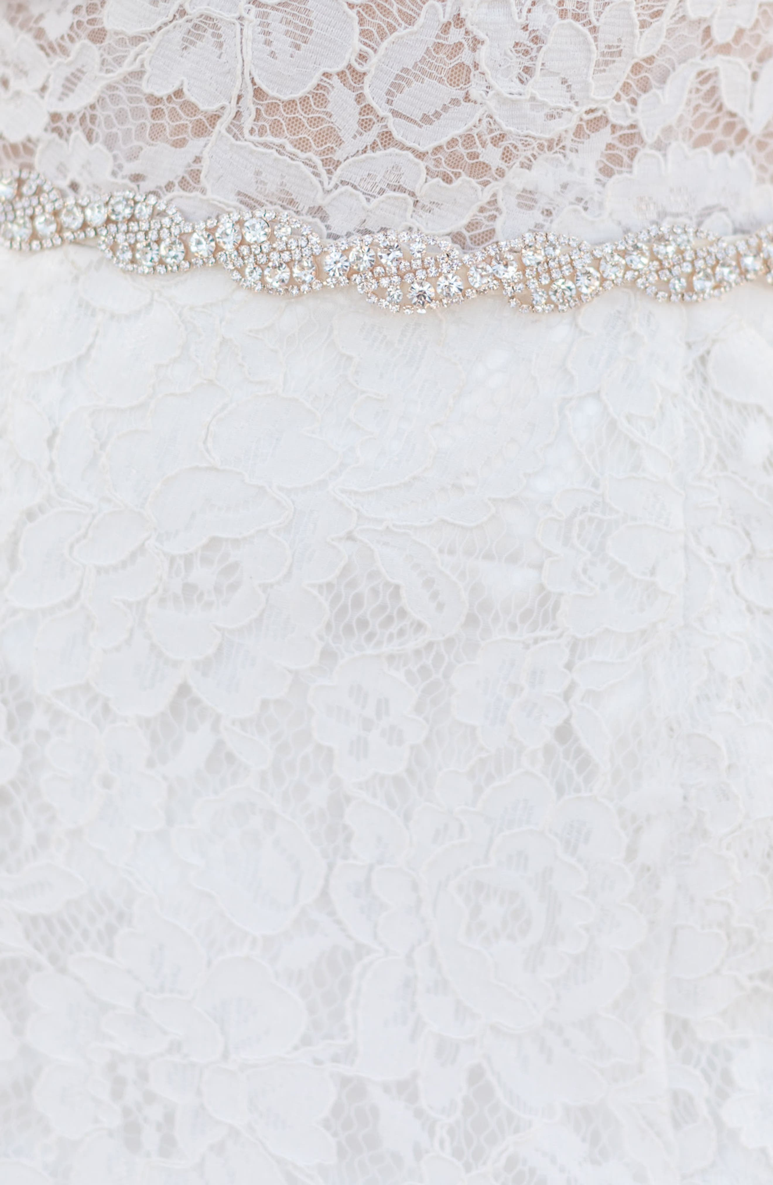 Aliza Crystal Overlay Belt,                             Alternate thumbnail 2, color,                             Rose Gold