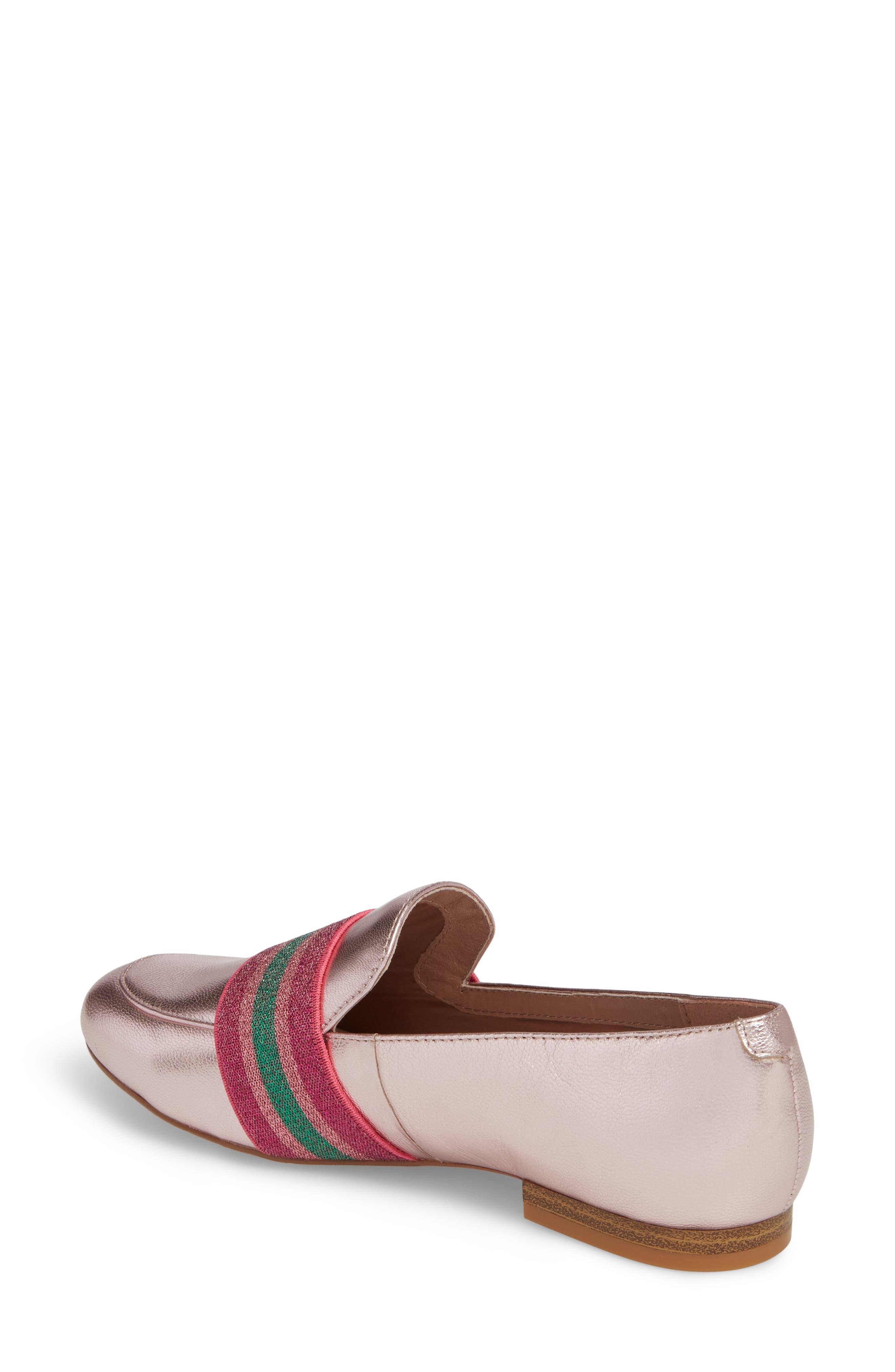 Walden Loafer,                             Alternate thumbnail 2, color,                             Pink Metallic Leather