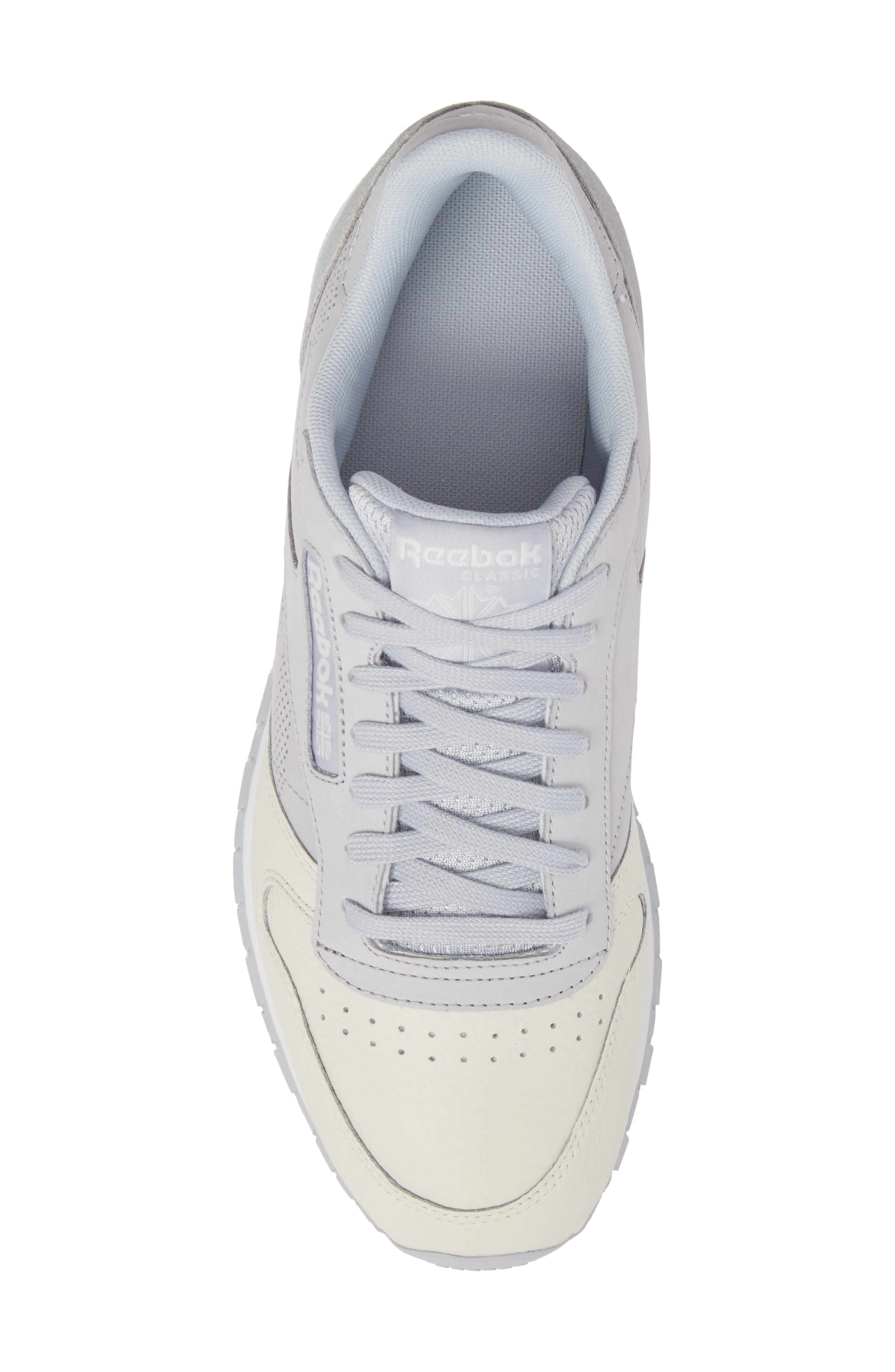 Classic Leather UE Sneaker,                             Alternate thumbnail 5, color,                             Grey/ Chalk/ Stark Grey/ White