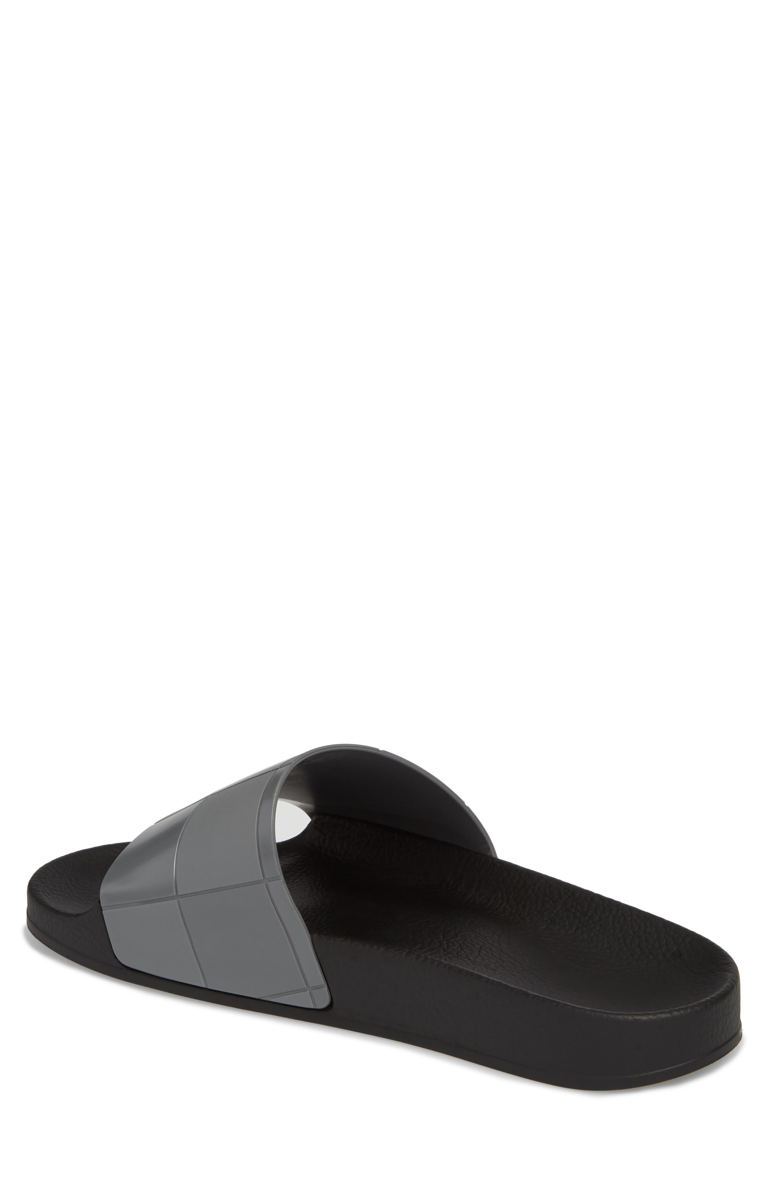 Adilette Checkerboard Sport Slide,                             Alternate thumbnail 2, color,                             Core Black/ Granite