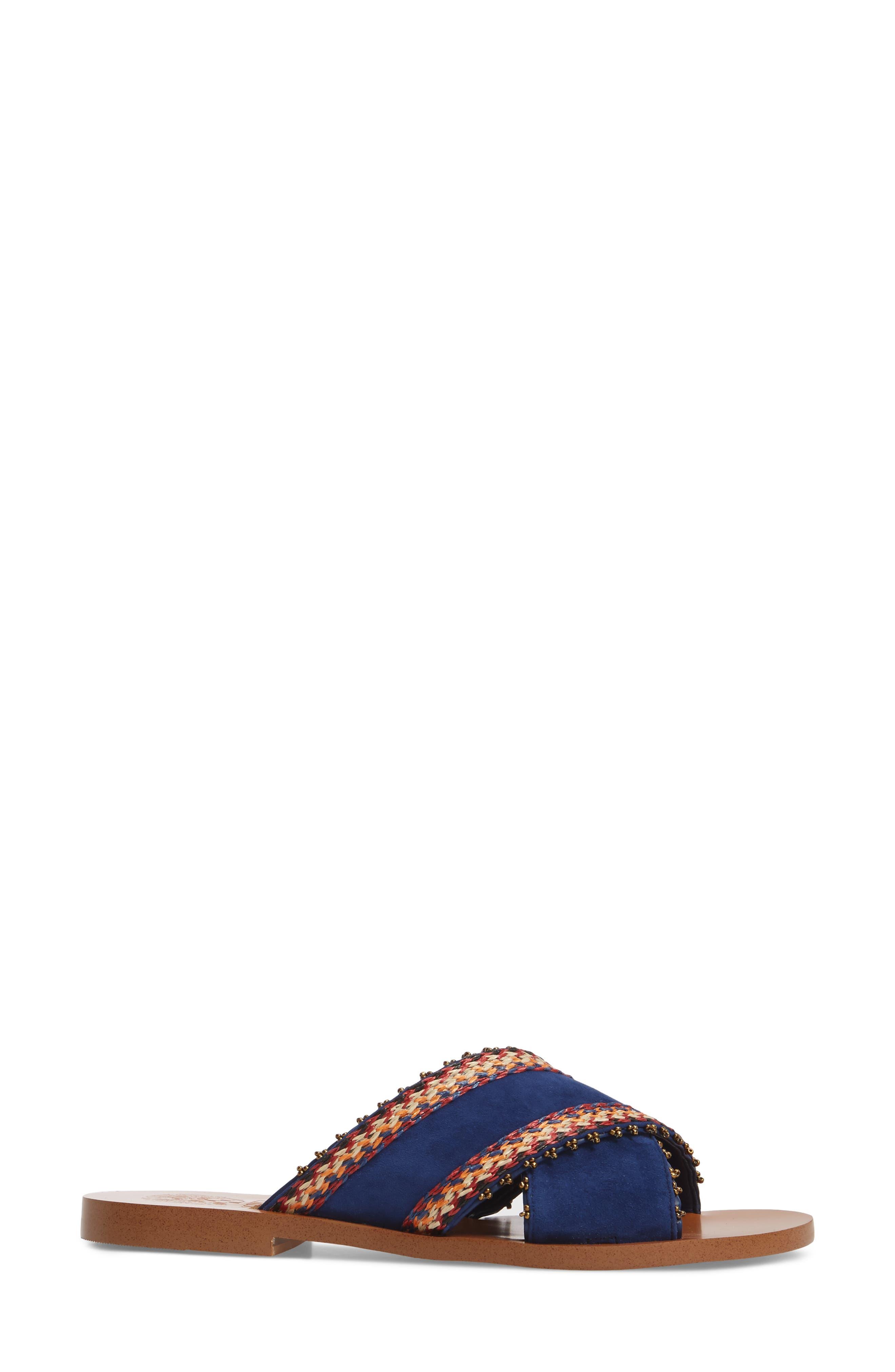 Averal Sandal,                             Alternate thumbnail 3, color,                             Moody Blues/ Red Multi