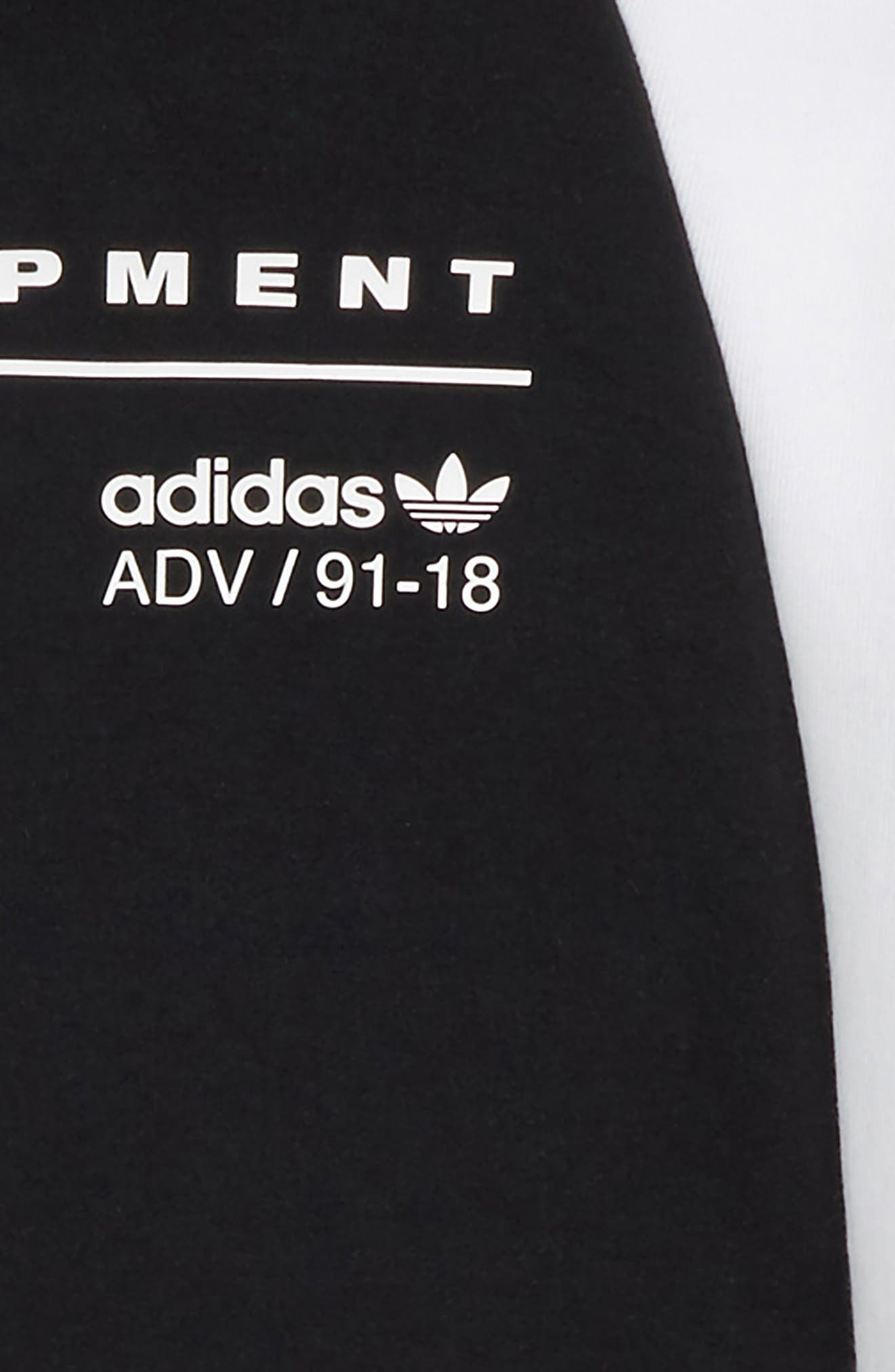adidas J EQT Hoodie,                             Alternate thumbnail 2, color,                             Black / White