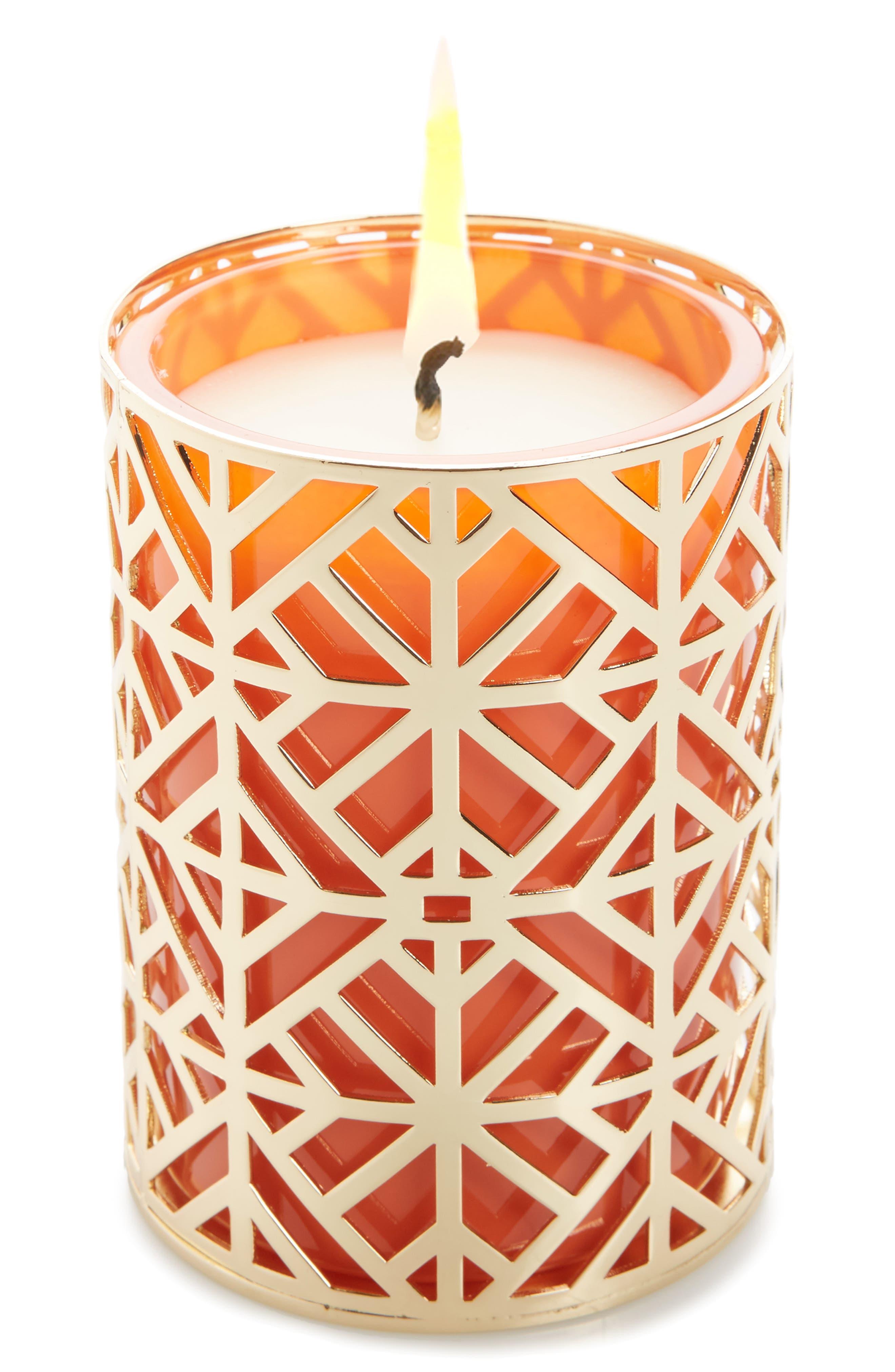 Pillar Candle,                             Main thumbnail 1, color,                             Orange