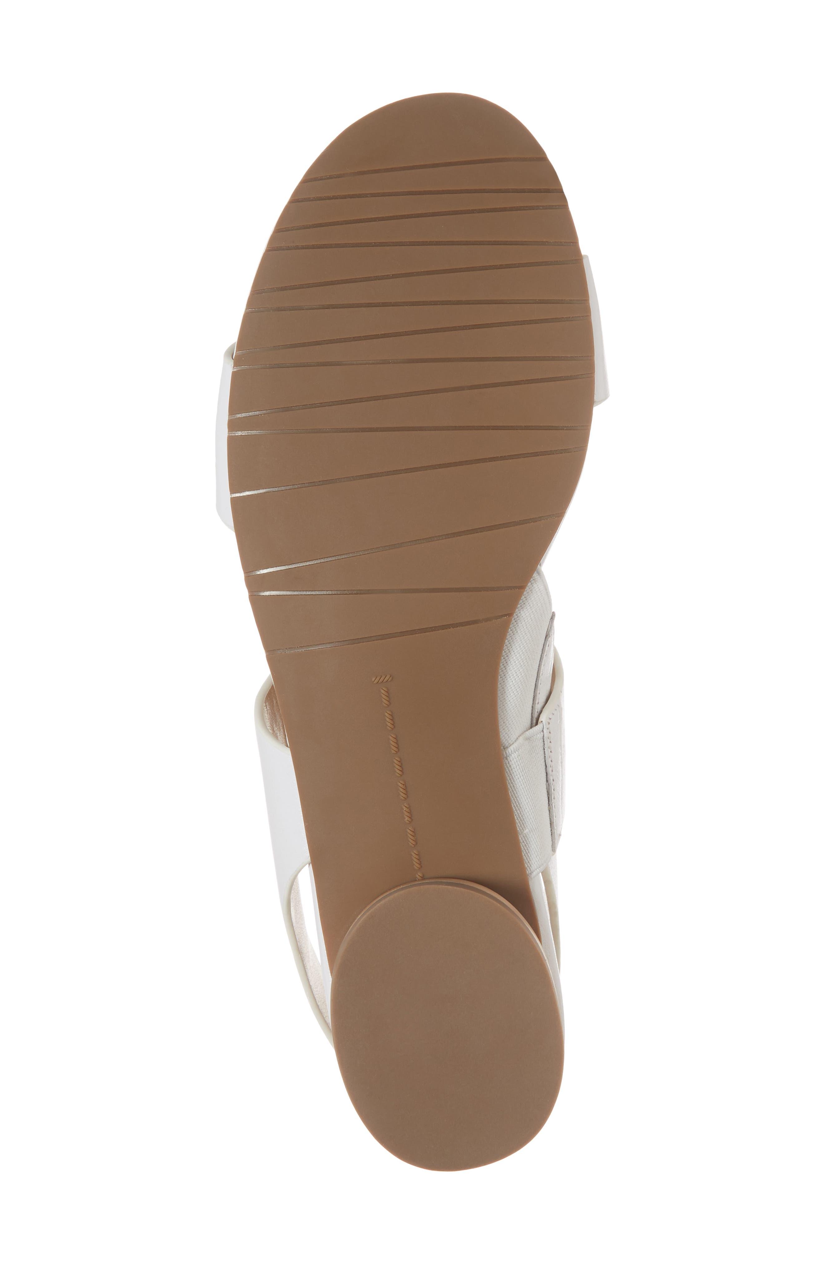 Blanka Sandal,                             Alternate thumbnail 6, color,                             White Leather