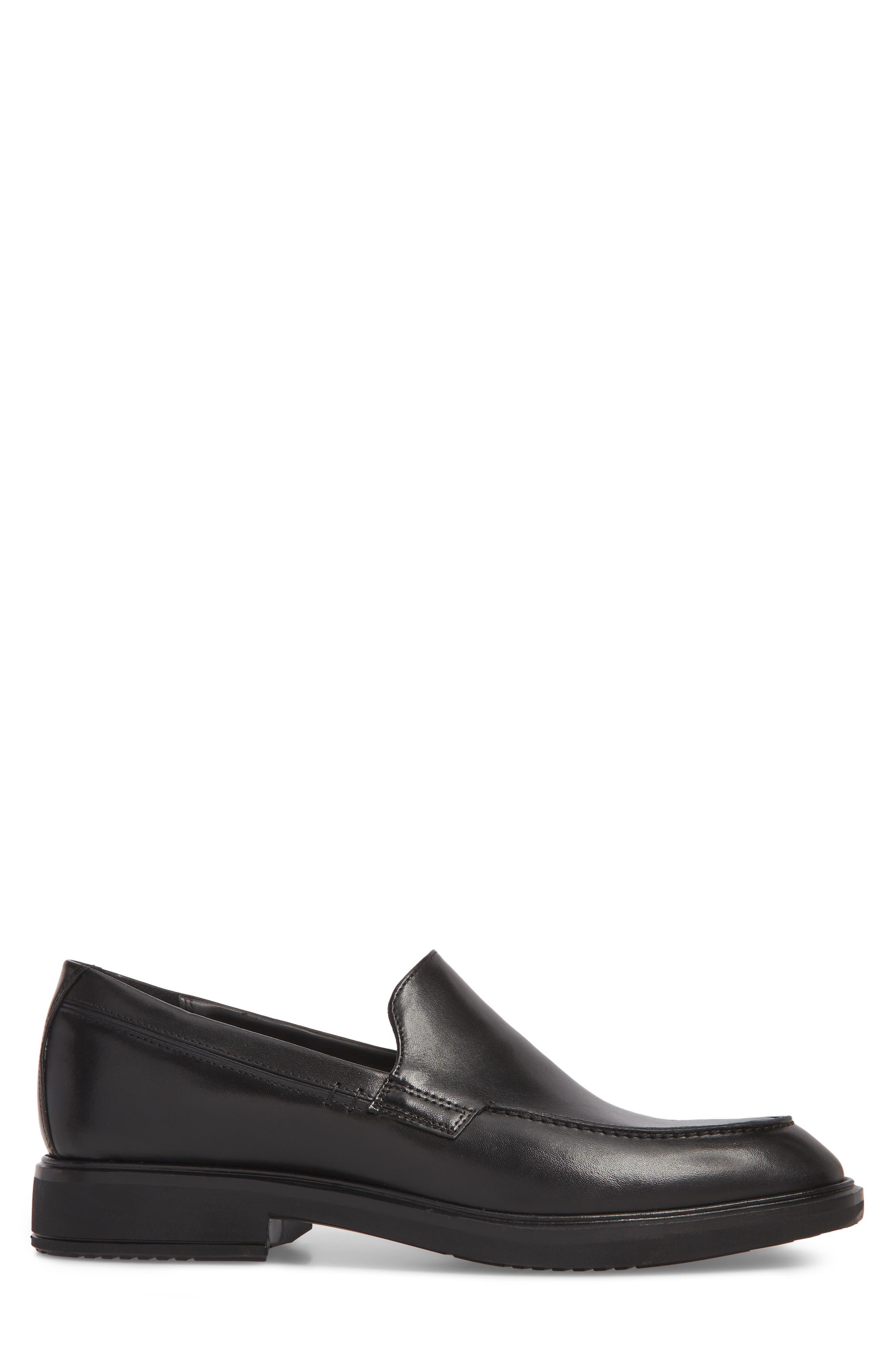 Vitrus II Apron Toe Loafer,                             Alternate thumbnail 3, color,                             Black Leather