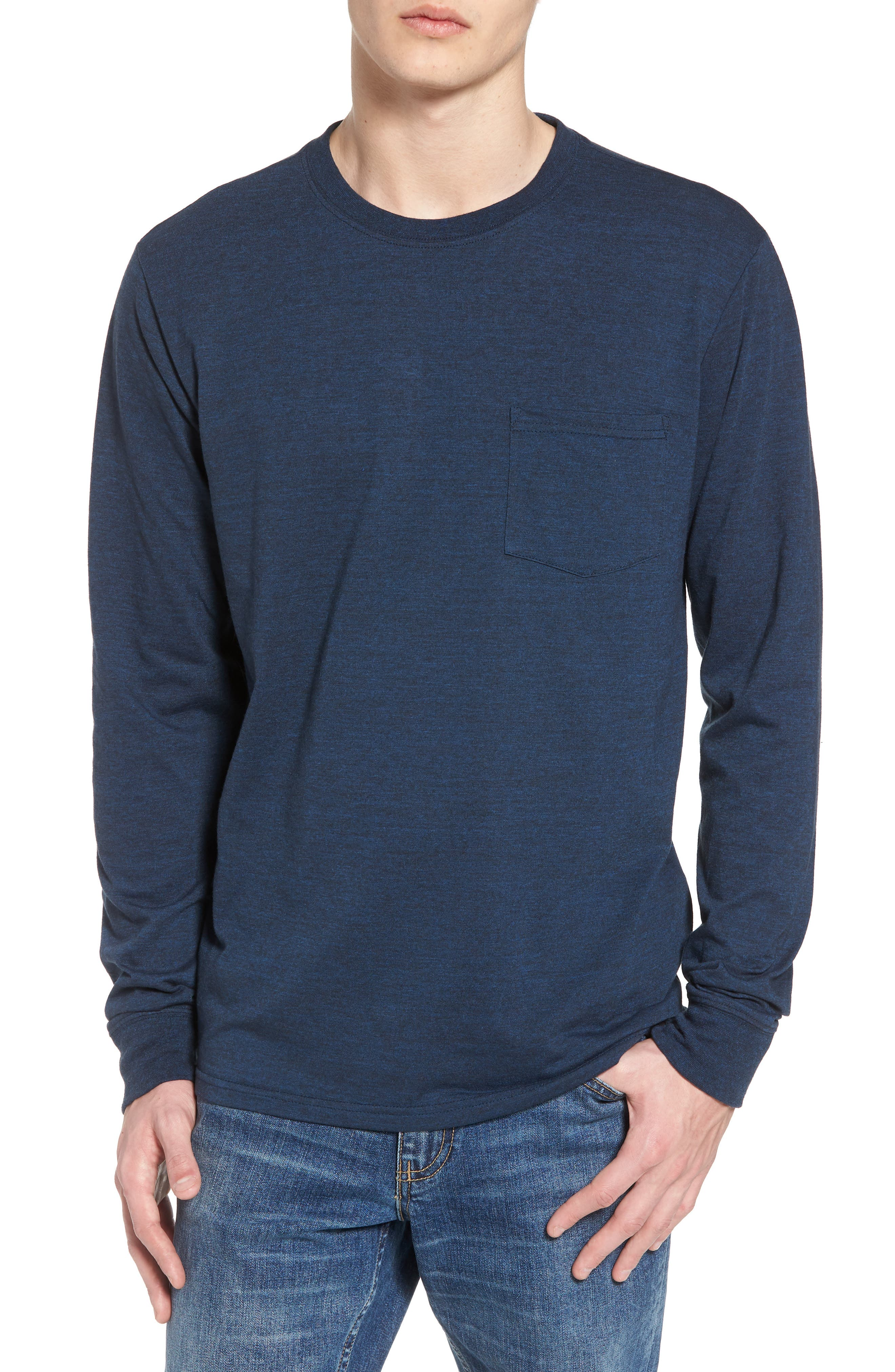 Threads for Thought Pocket Crew T-Shirt,                         Main,                         color, Midnight