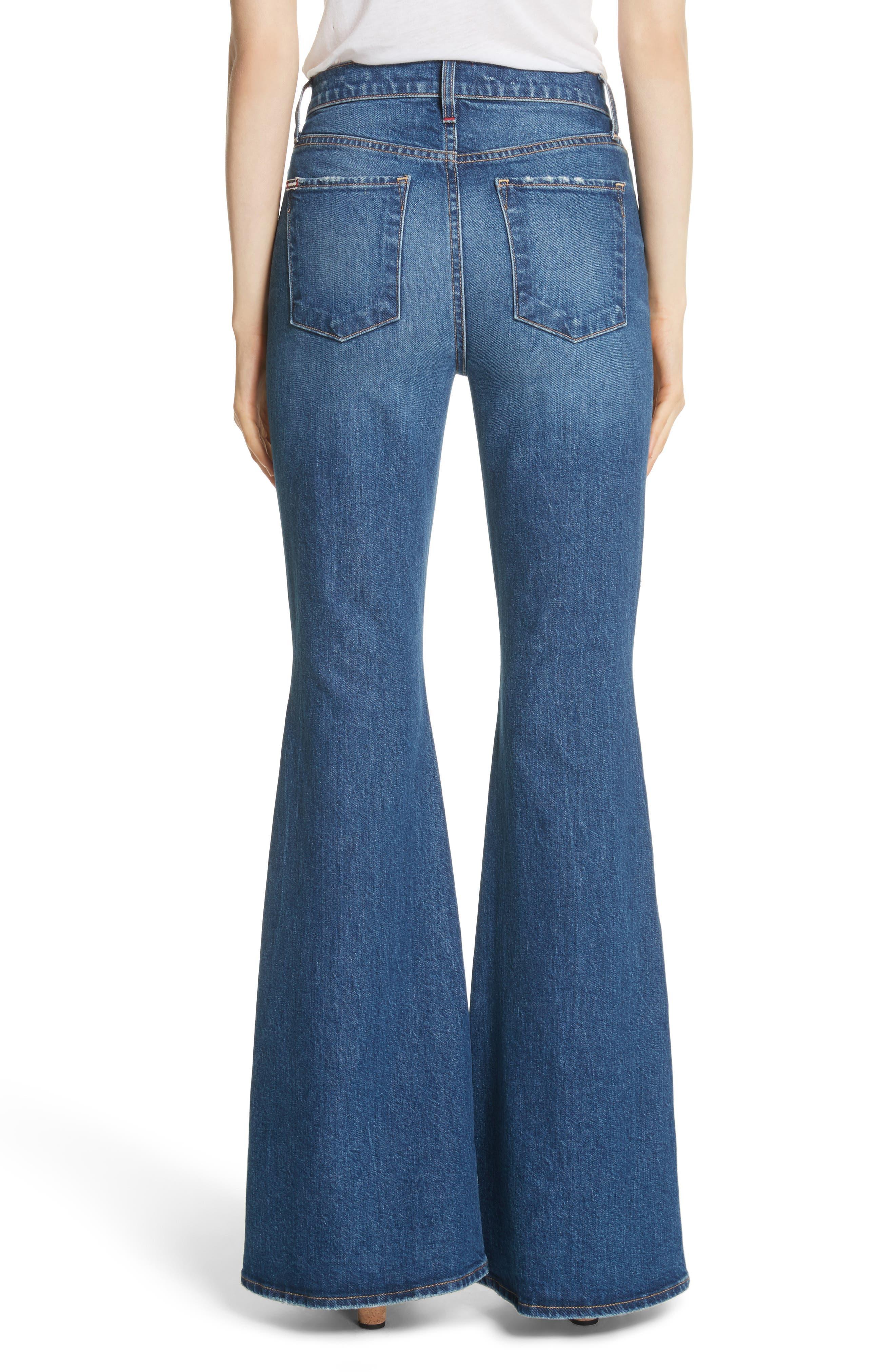 AO.LA Beautiful High Waist Bell Jeans,                             Alternate thumbnail 2, color,                             Secret Meeting