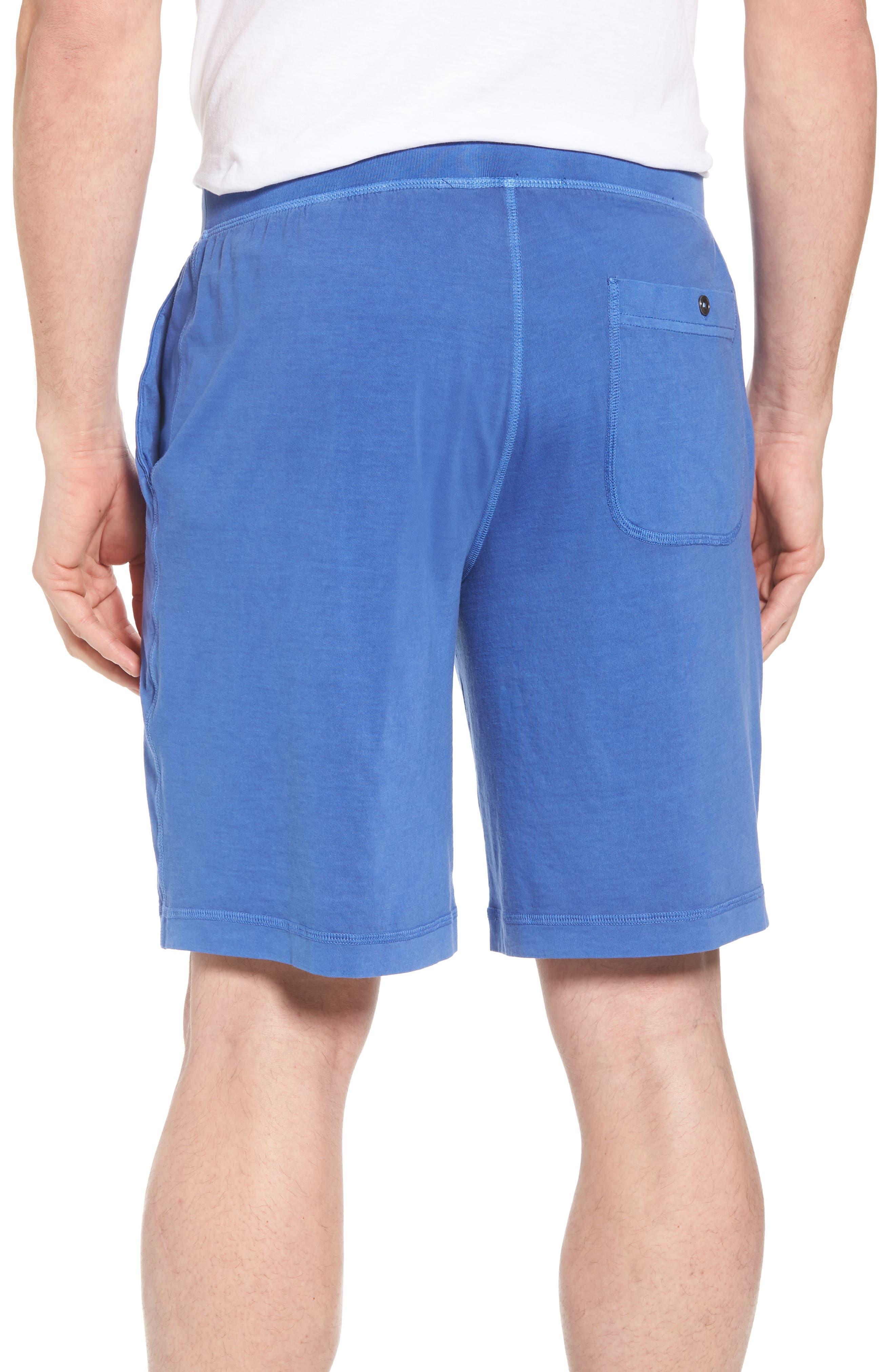 Peruvian Pima Cotton Lounge Shorts,                             Alternate thumbnail 2, color,                             Cobalt Blue