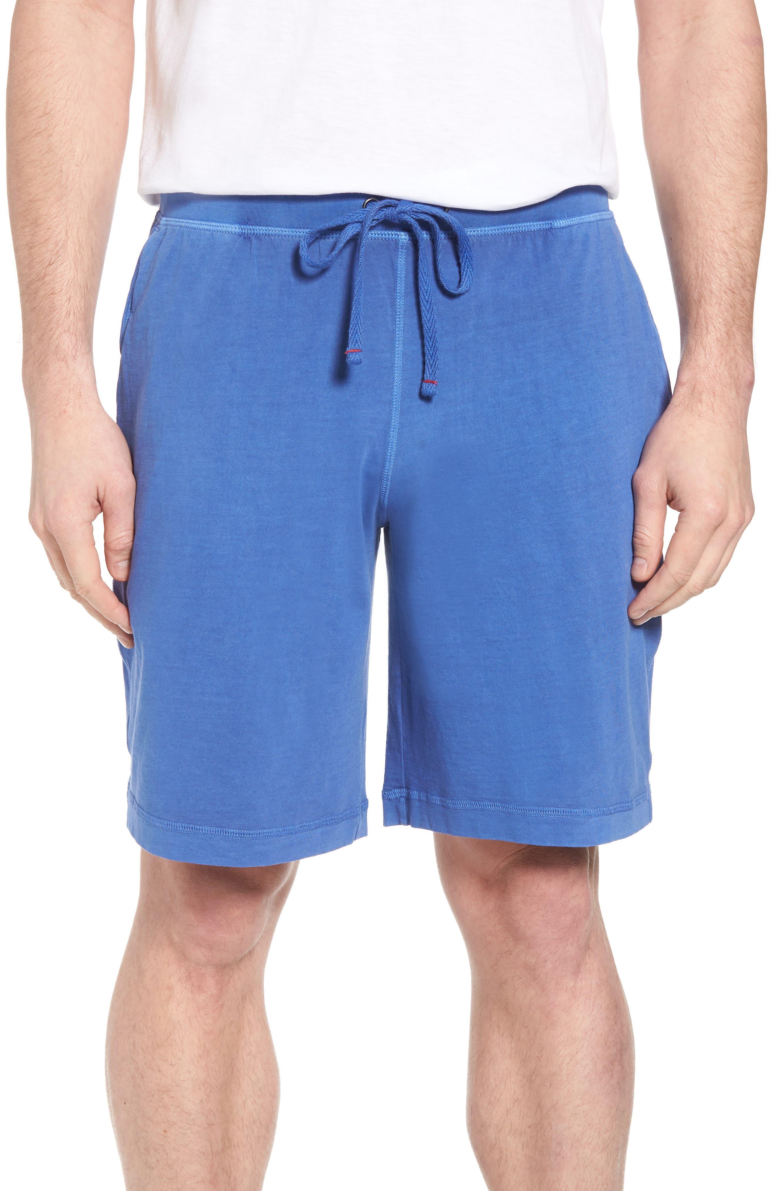 Peruvian Pima Cotton Lounge Shorts,                         Main,                         color, Cobalt Blue