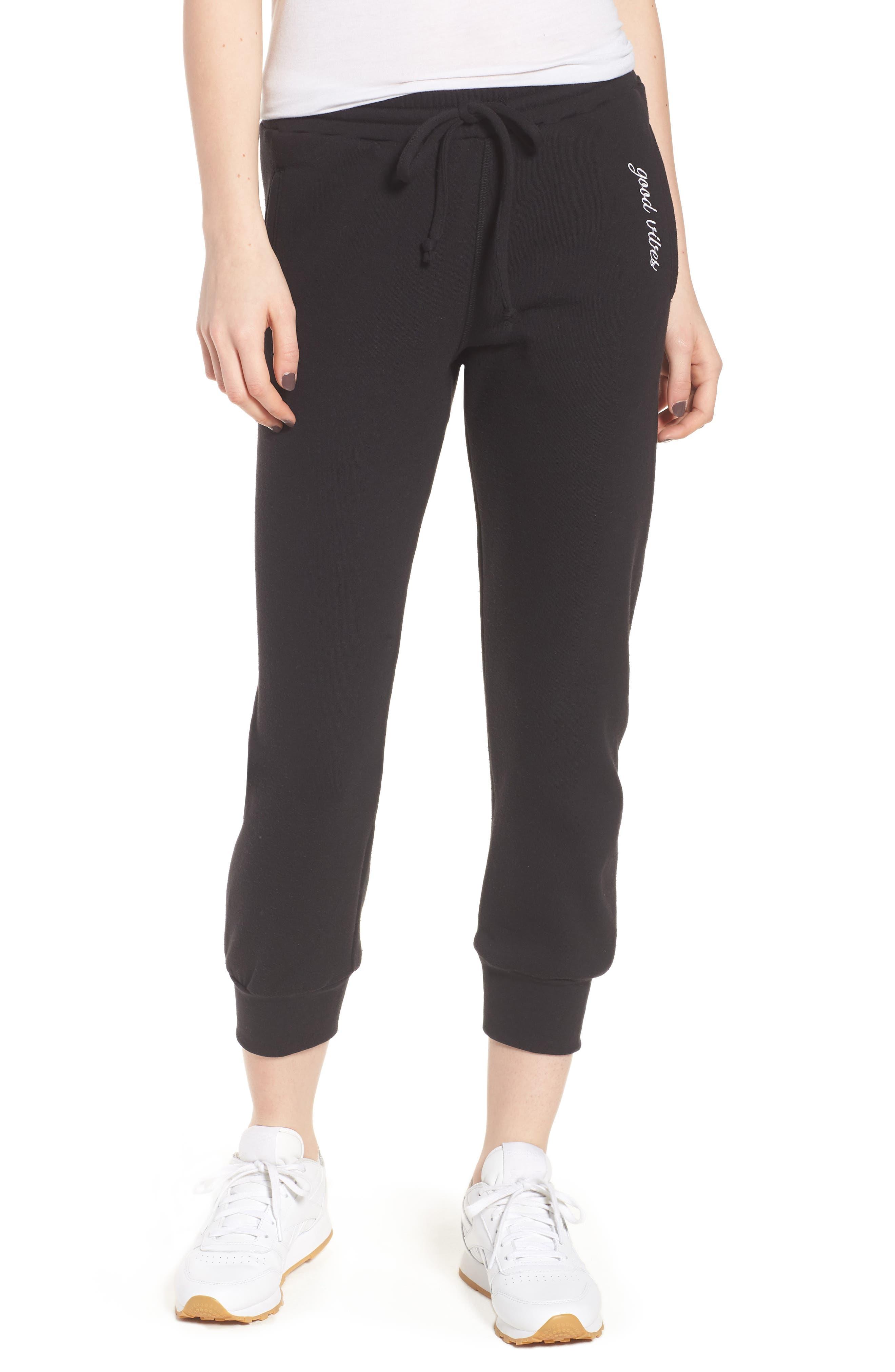 Cambridge Good Vibes Sweatpants,                         Main,                         color, Black