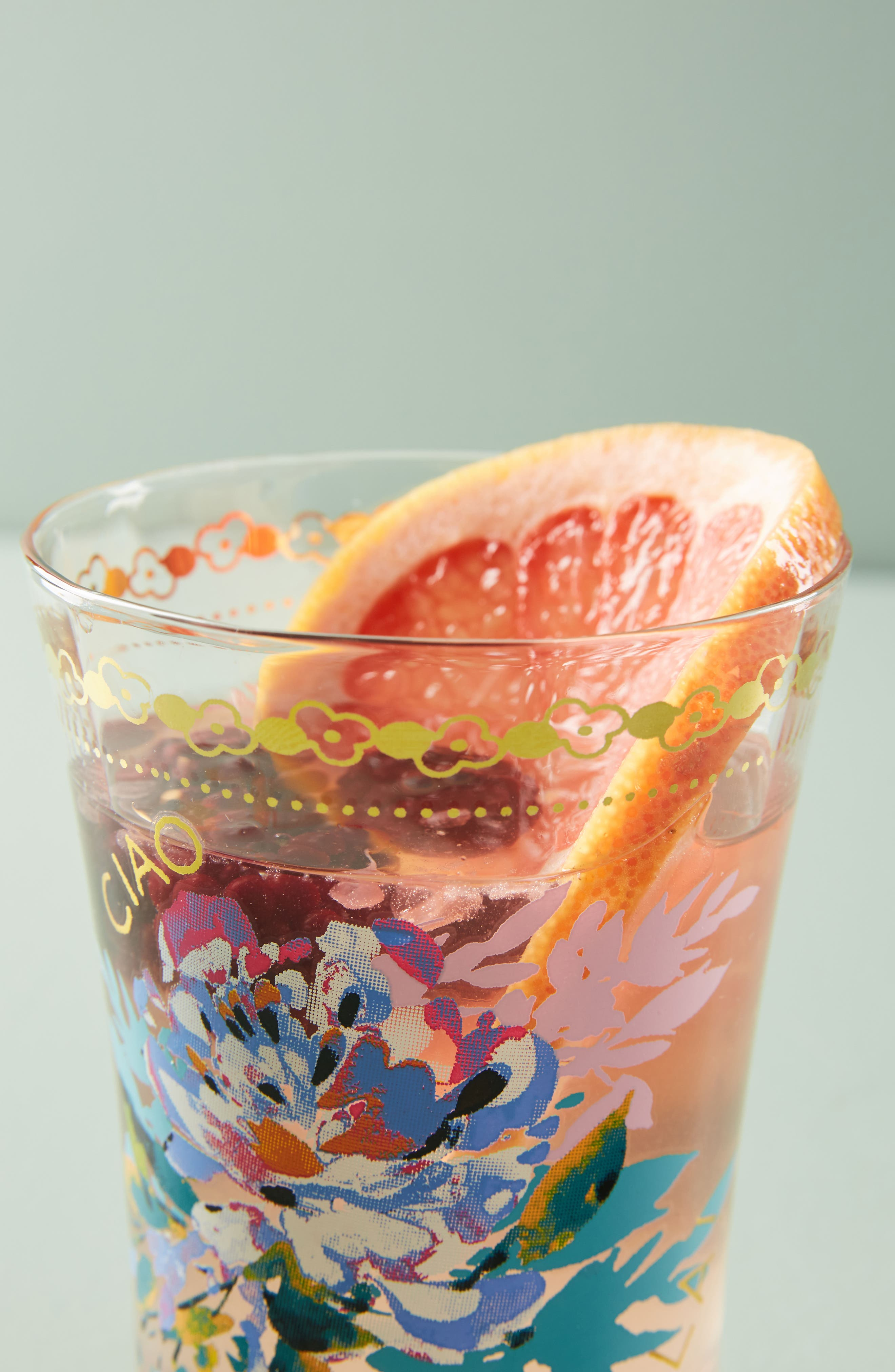 Gilded Journey Juice Glass,                             Alternate thumbnail 2, color,                             Ciao Bella