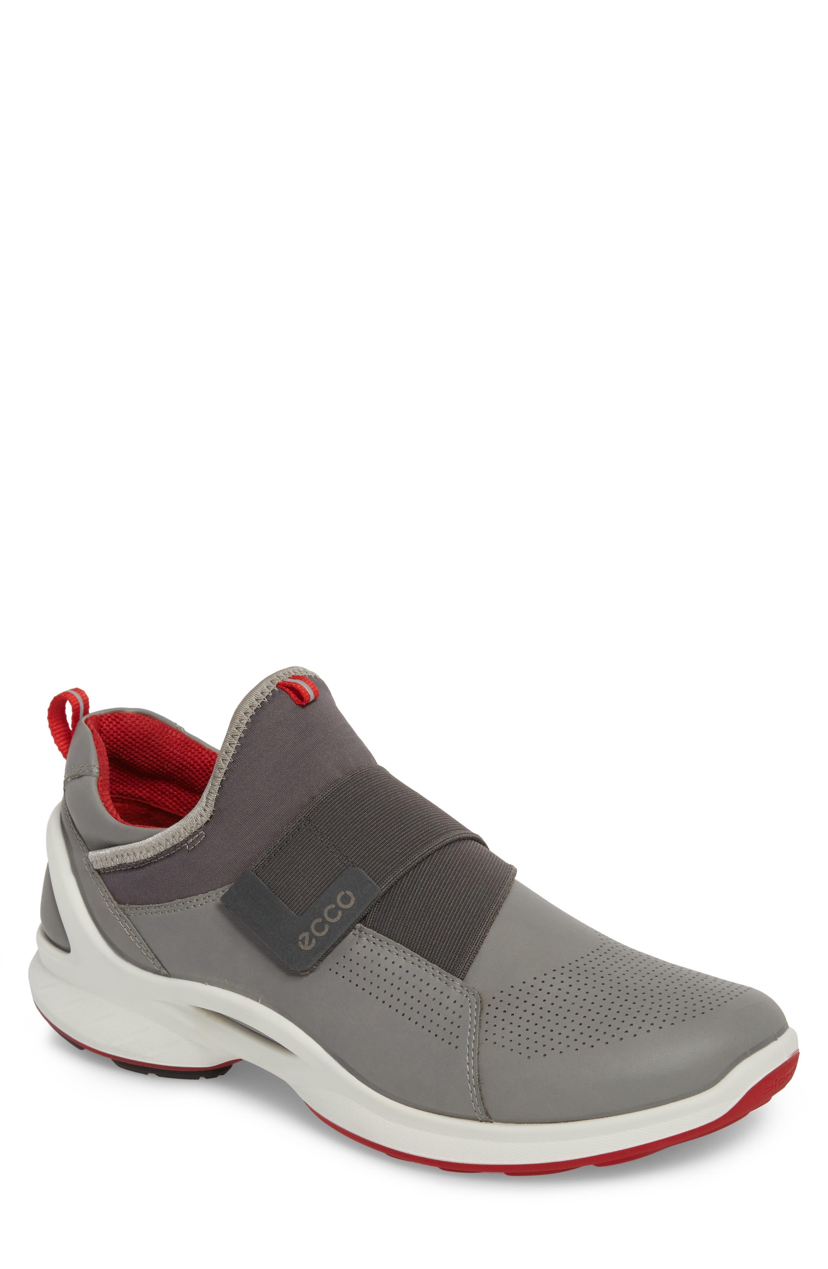 BIOM Fjuel Band Sneaker,                         Main,                         color, Dark Shadow/ Titanium Leather