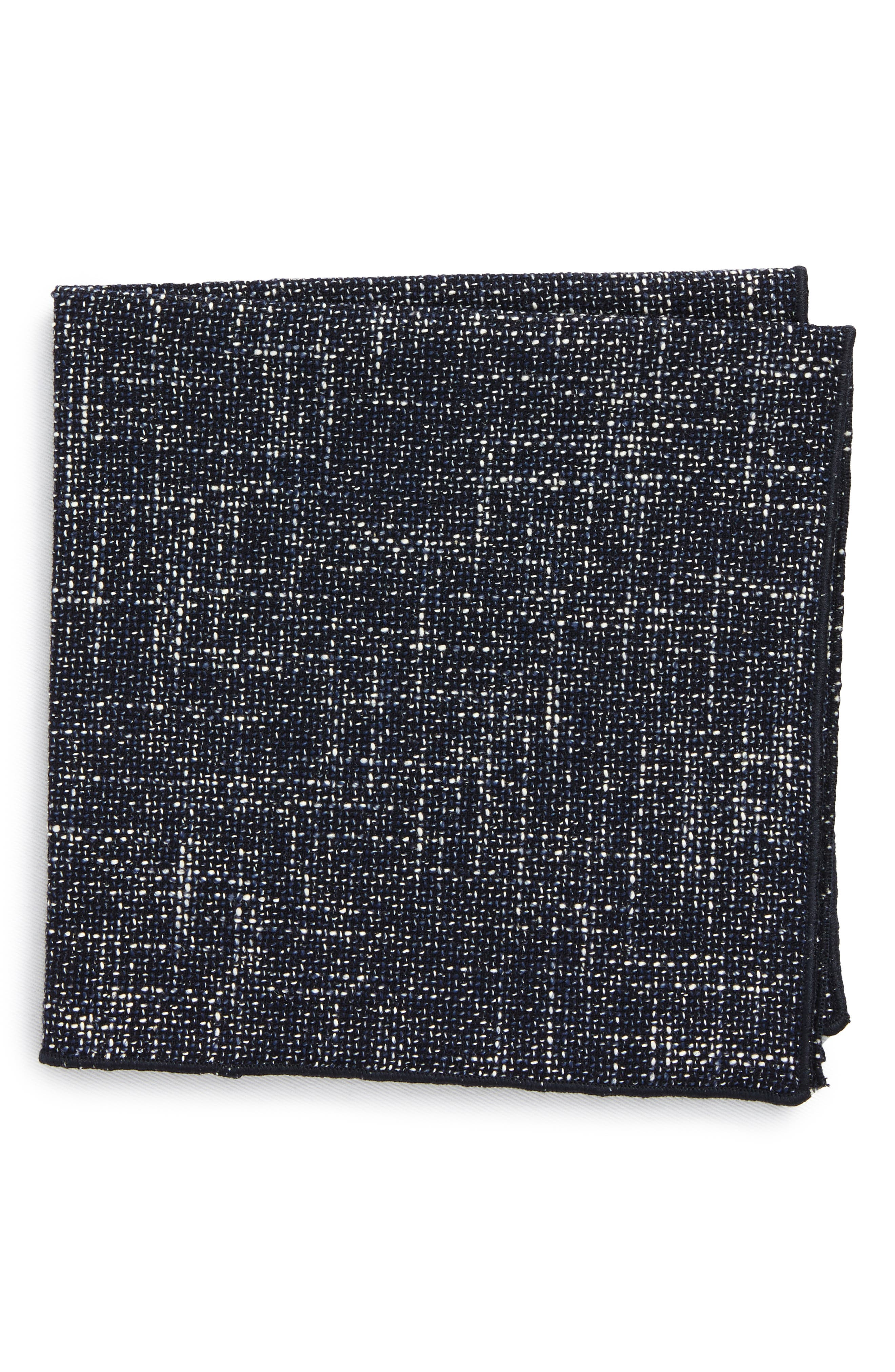 Texture Pocket Square,                         Main,                         color, Navy