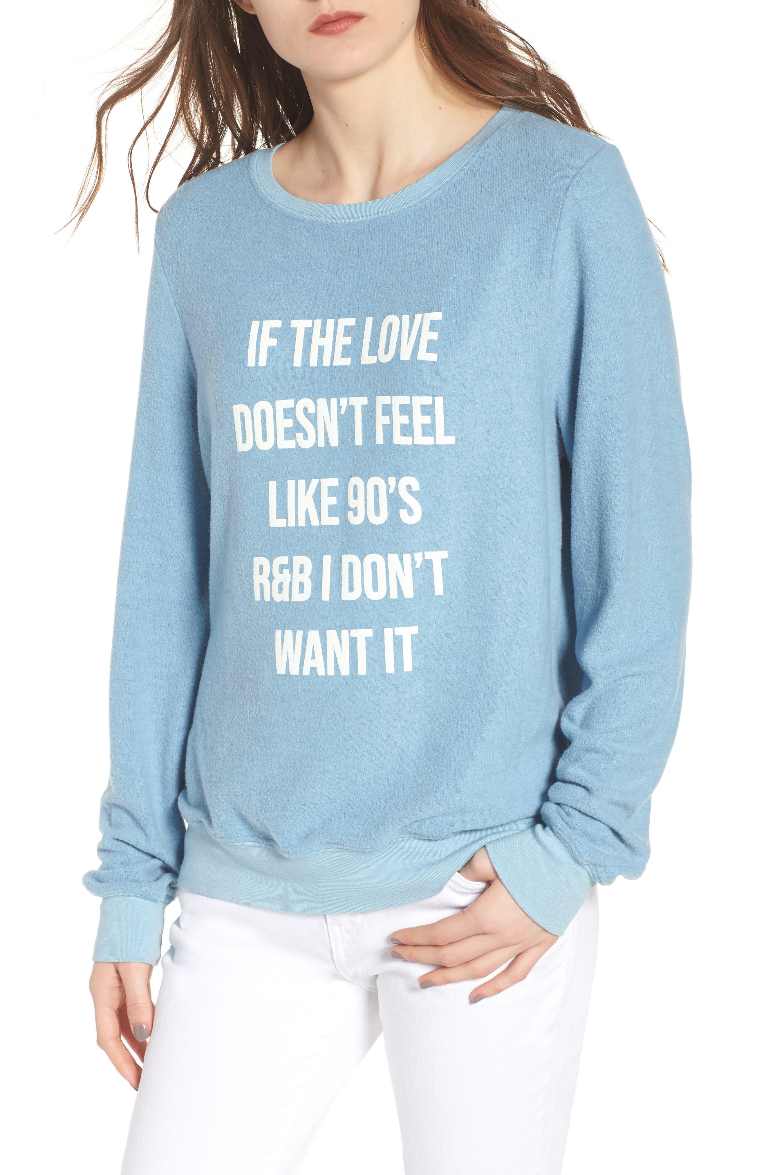 Main Image - Wildfox '90s R&B Baggy Beach Pullover