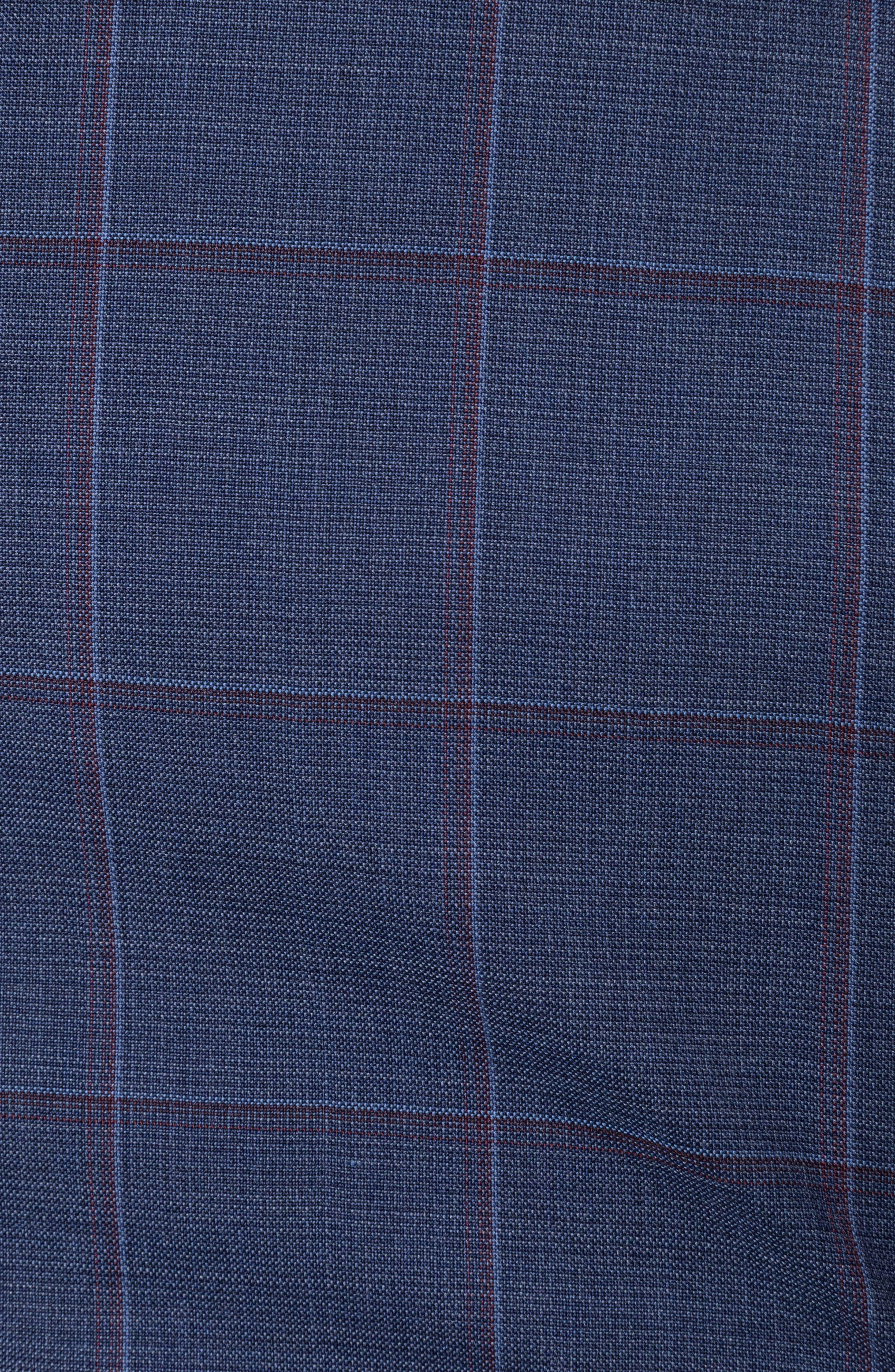 Luxbridge Regular Fit Wool Sport Coat,                             Alternate thumbnail 4, color,                             Midnight