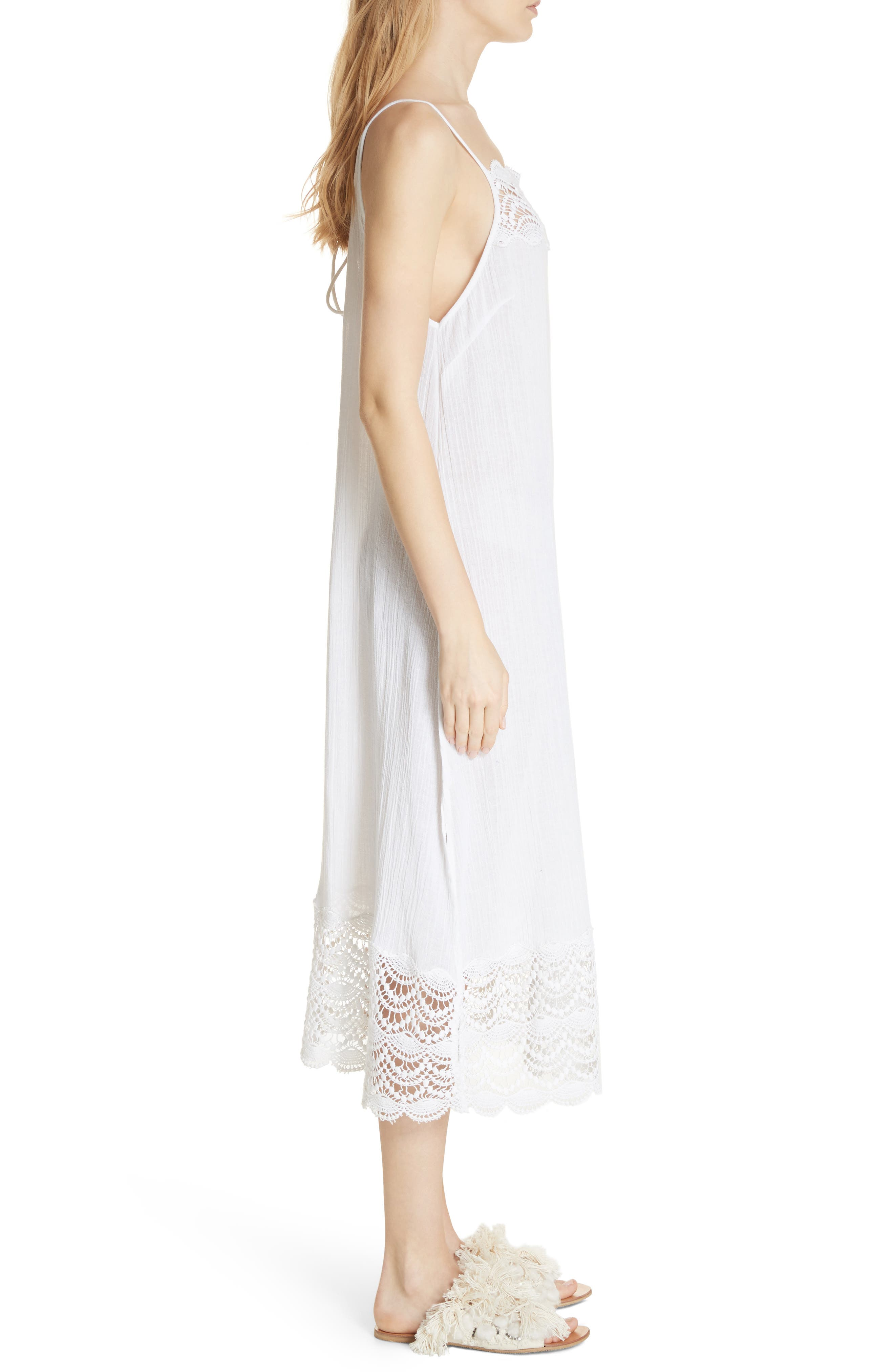 Abbie Crinkle Maxi Dress,                             Alternate thumbnail 3, color,                             Ivory