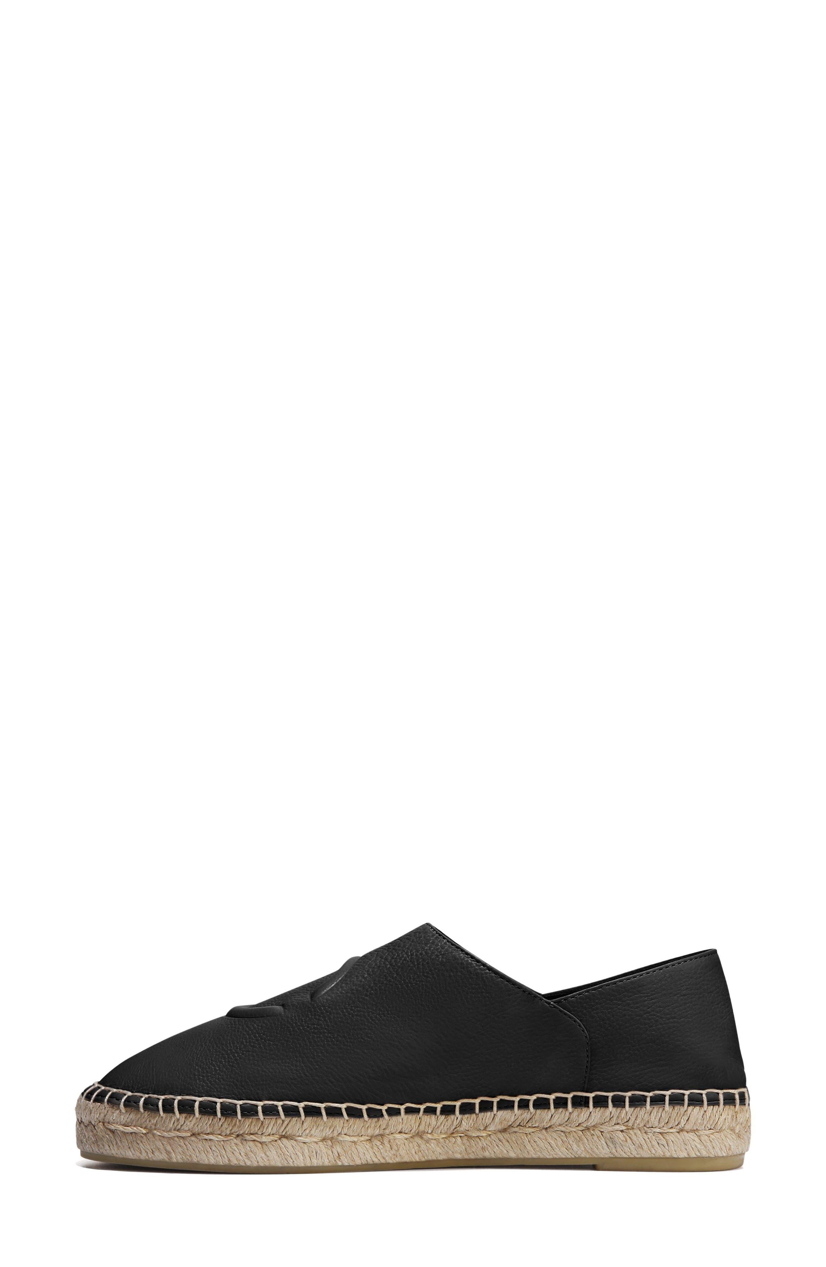 Bella Espadrille,                             Alternate thumbnail 3, color,                             Black Leather