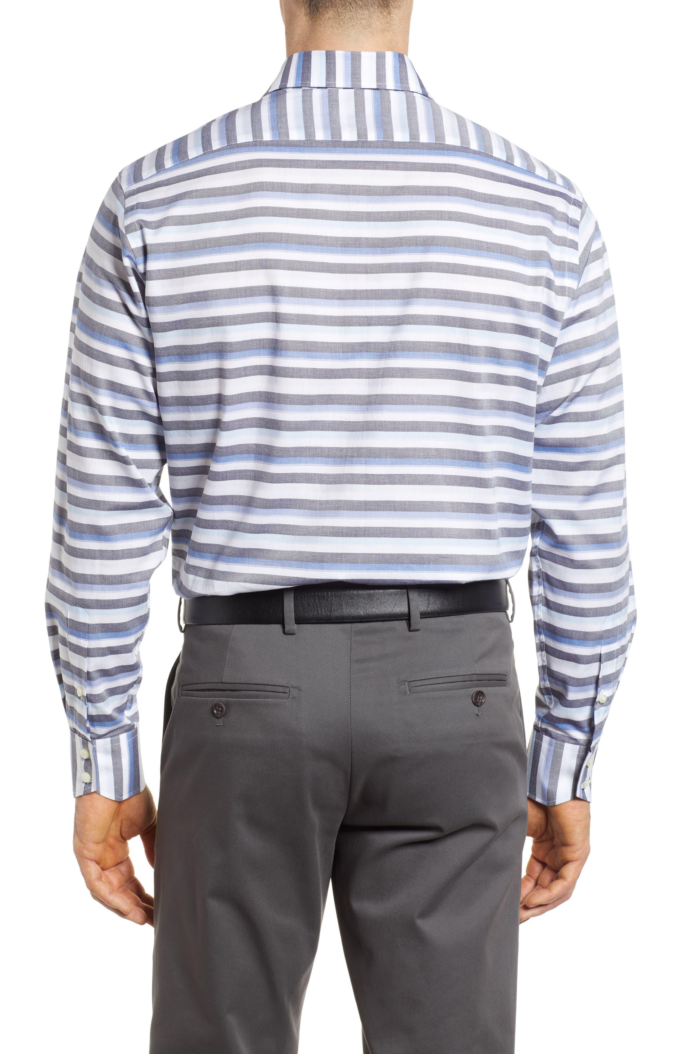 Stripe Sport Shirt,                             Alternate thumbnail 2, color,                             Blue