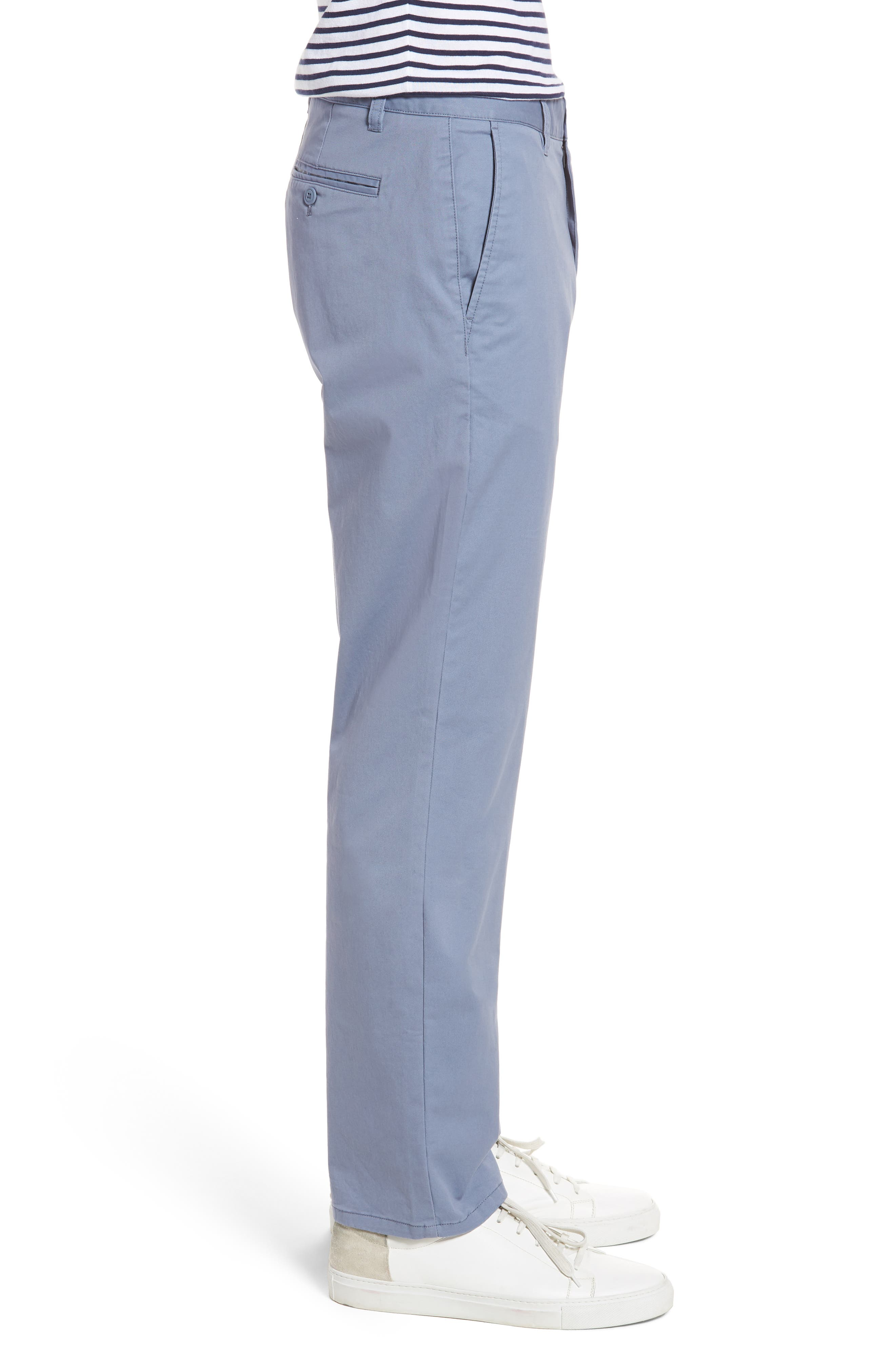 Straight Leg Stretch Washed Chinos,                             Alternate thumbnail 3, color,                             Tempest Purple