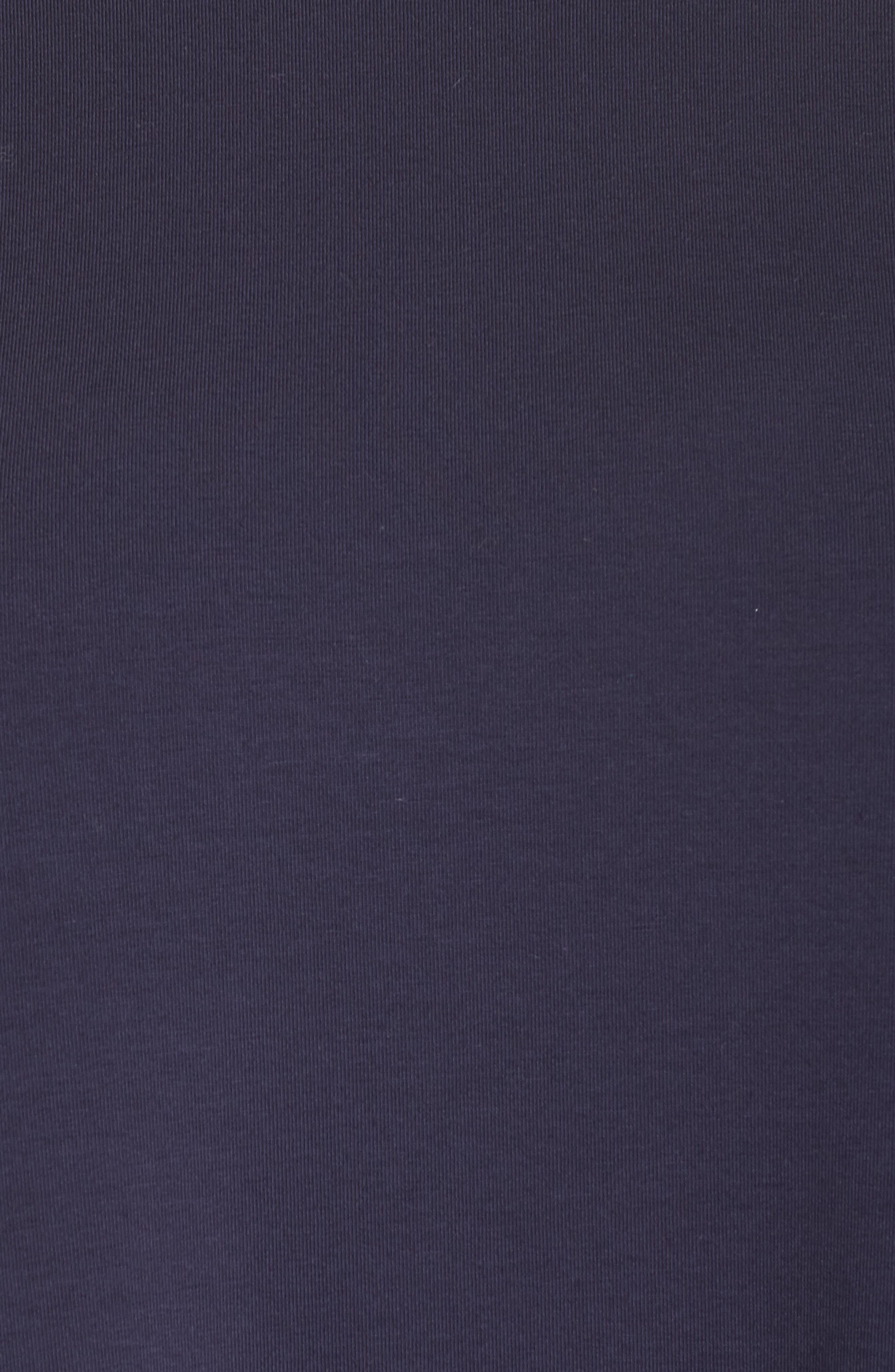 Knit Jersey Dress,                             Alternate thumbnail 5, color,                             Midnight
