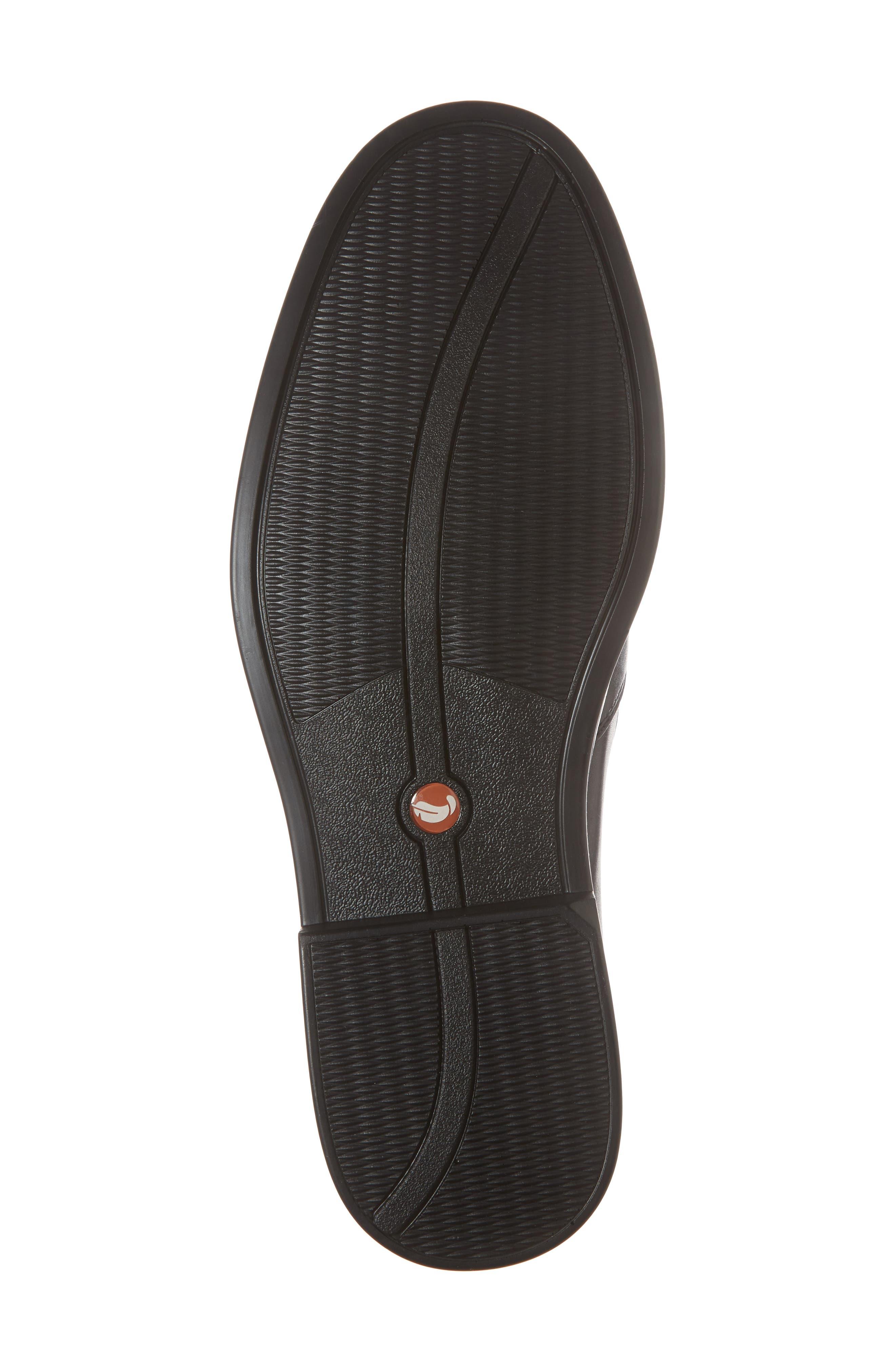 Unaldric Apron Toe Loafer,                             Alternate thumbnail 6, color,                             Black Leather