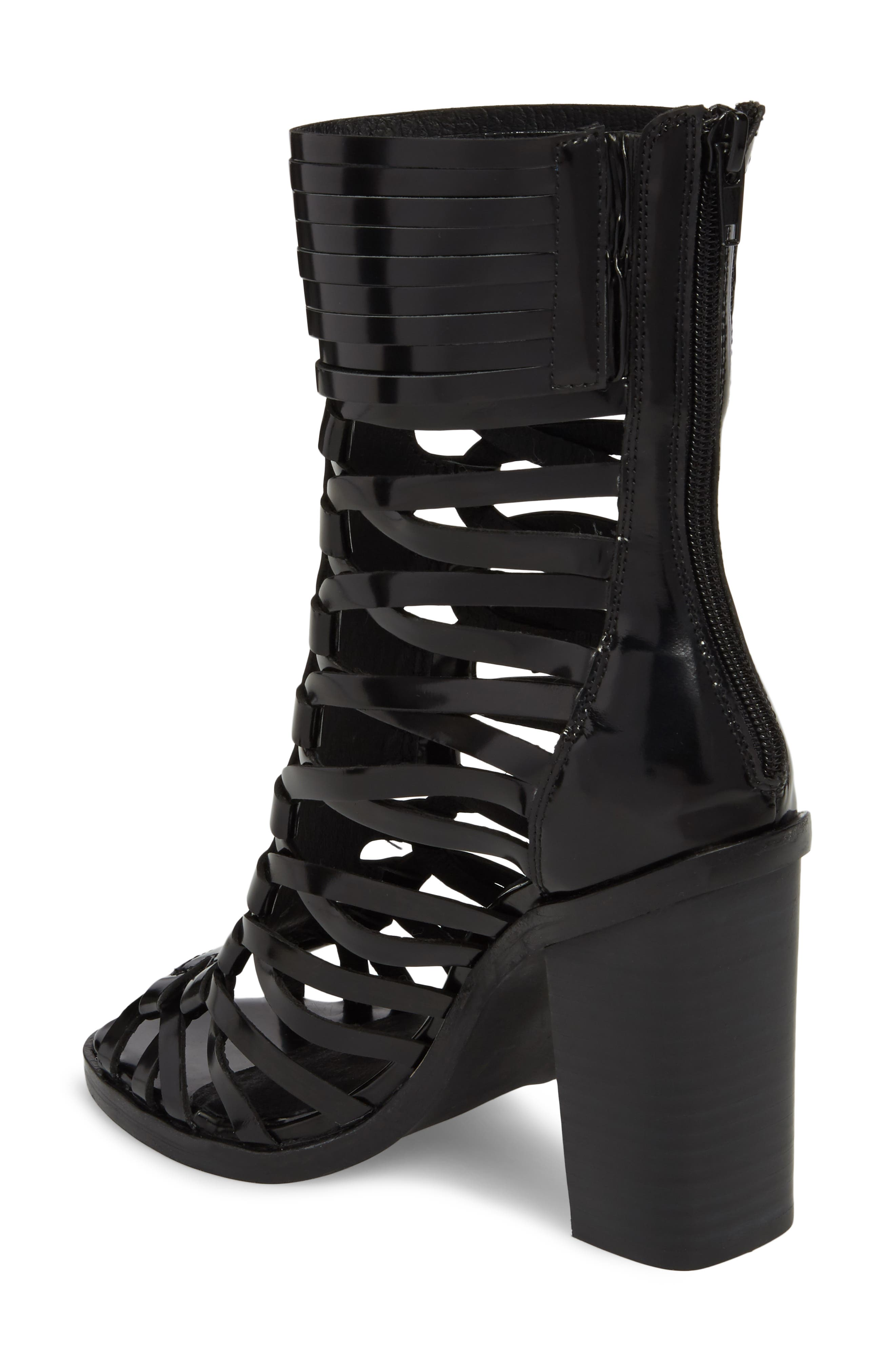 Deportivo Strappy Bootie,                             Alternate thumbnail 2, color,                             Black Leather