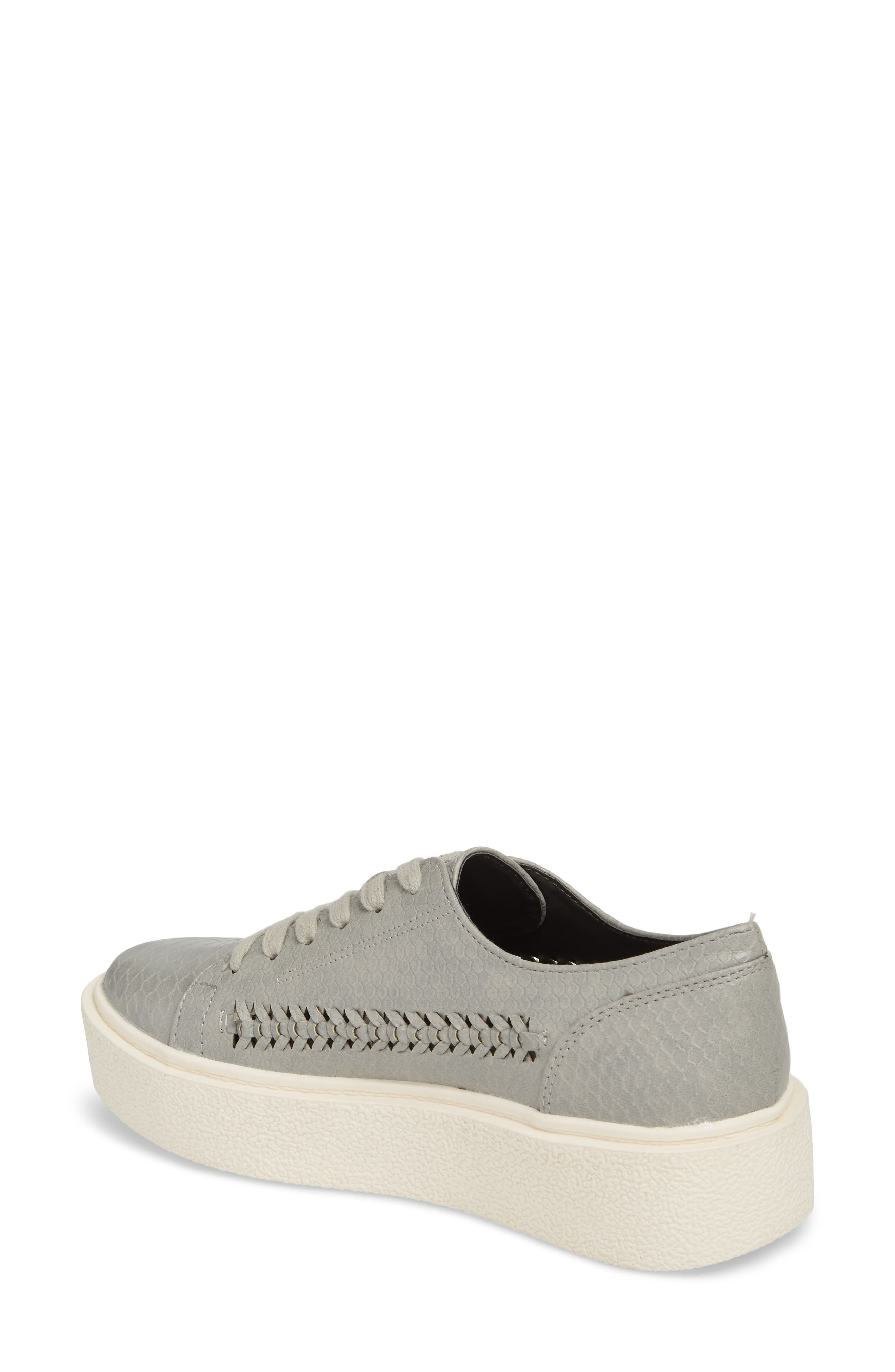 White Out Platform Sneaker,                             Alternate thumbnail 2, color,                             Grey Fabric