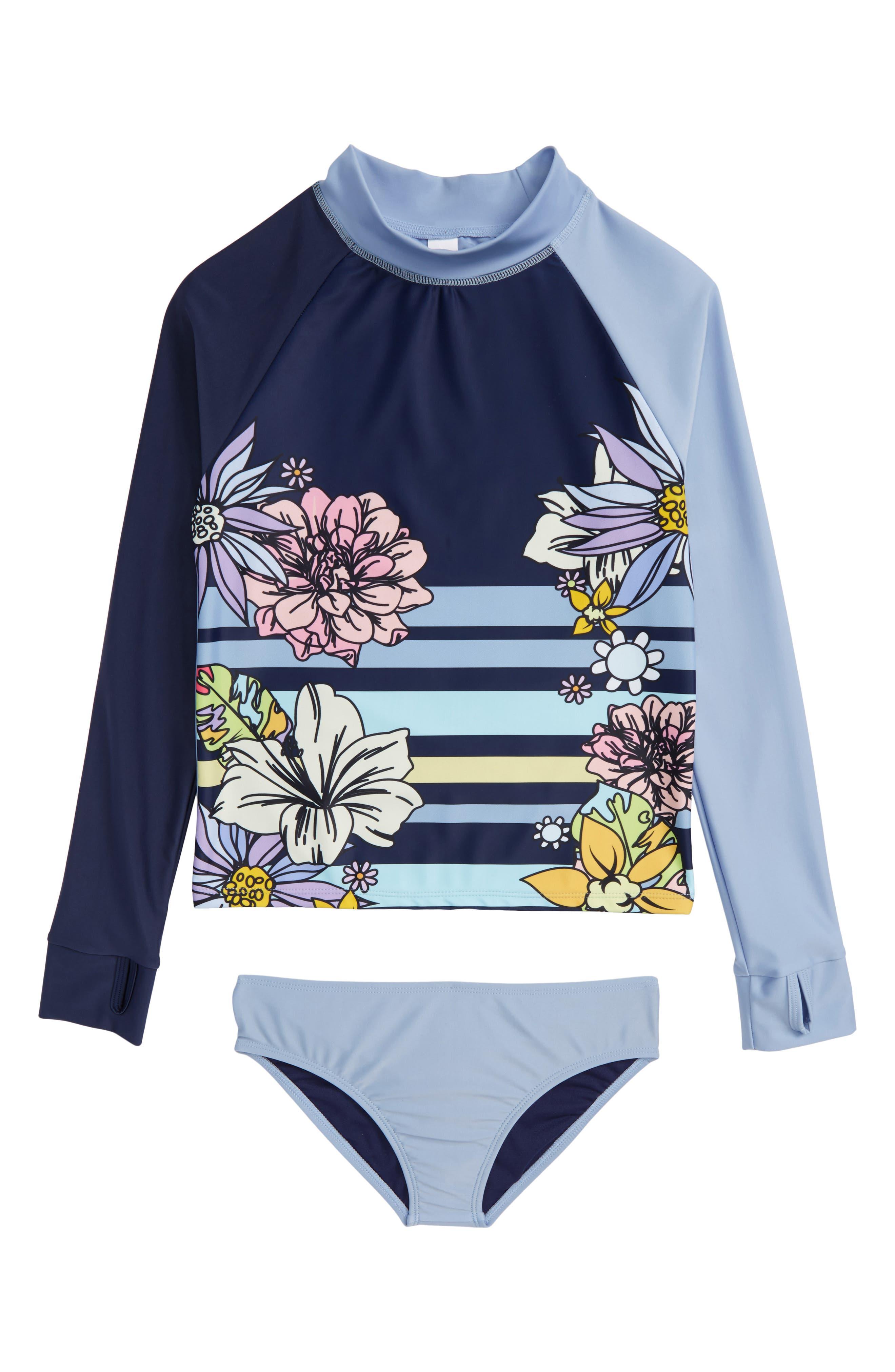 Anika Two-Piece Rashguard Swimsuit,                         Main,                         color, Multi