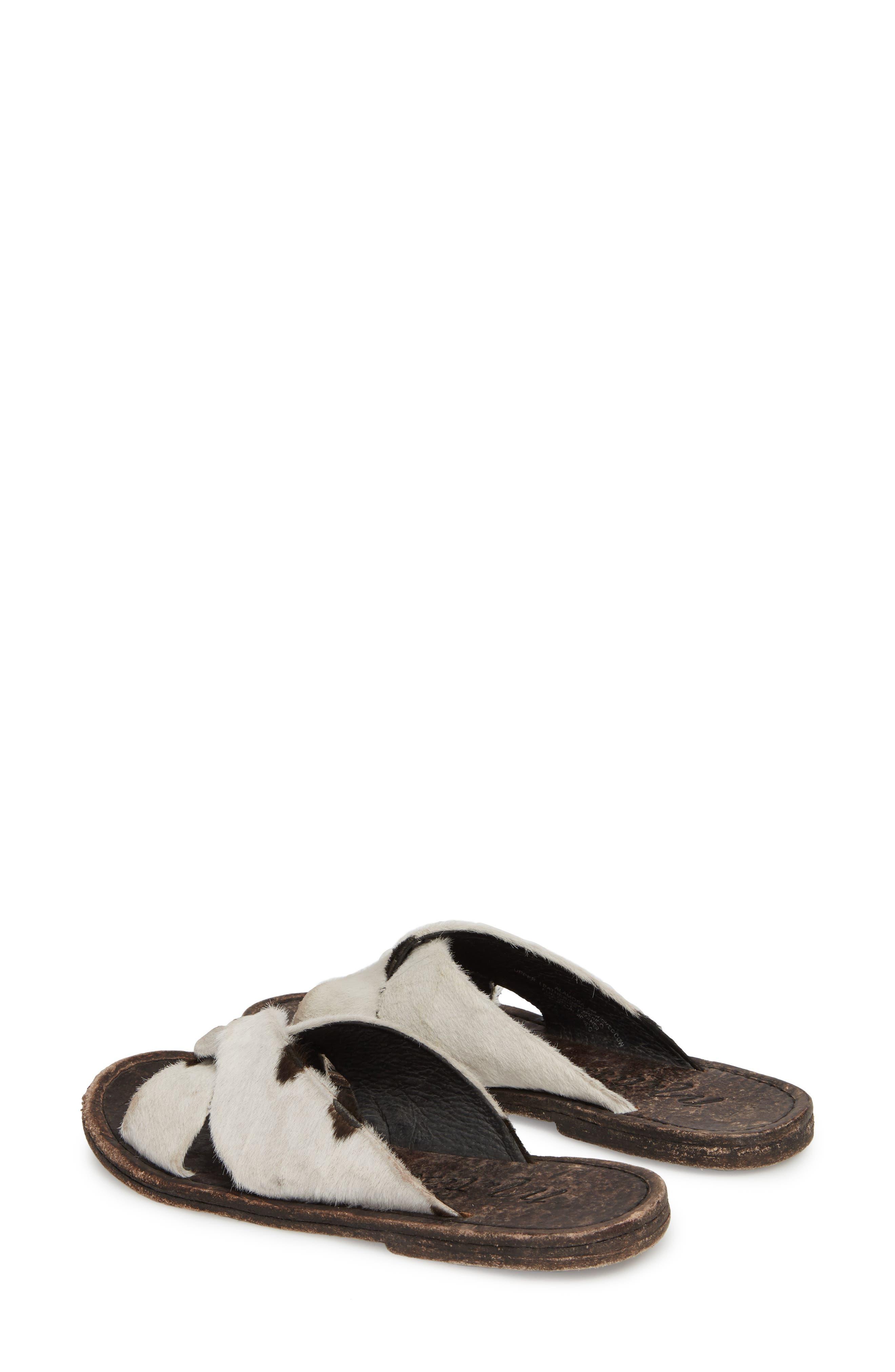 Alamosa Genuine Calf Hair Sandal,                             Alternate thumbnail 2, color,                             Black/ White