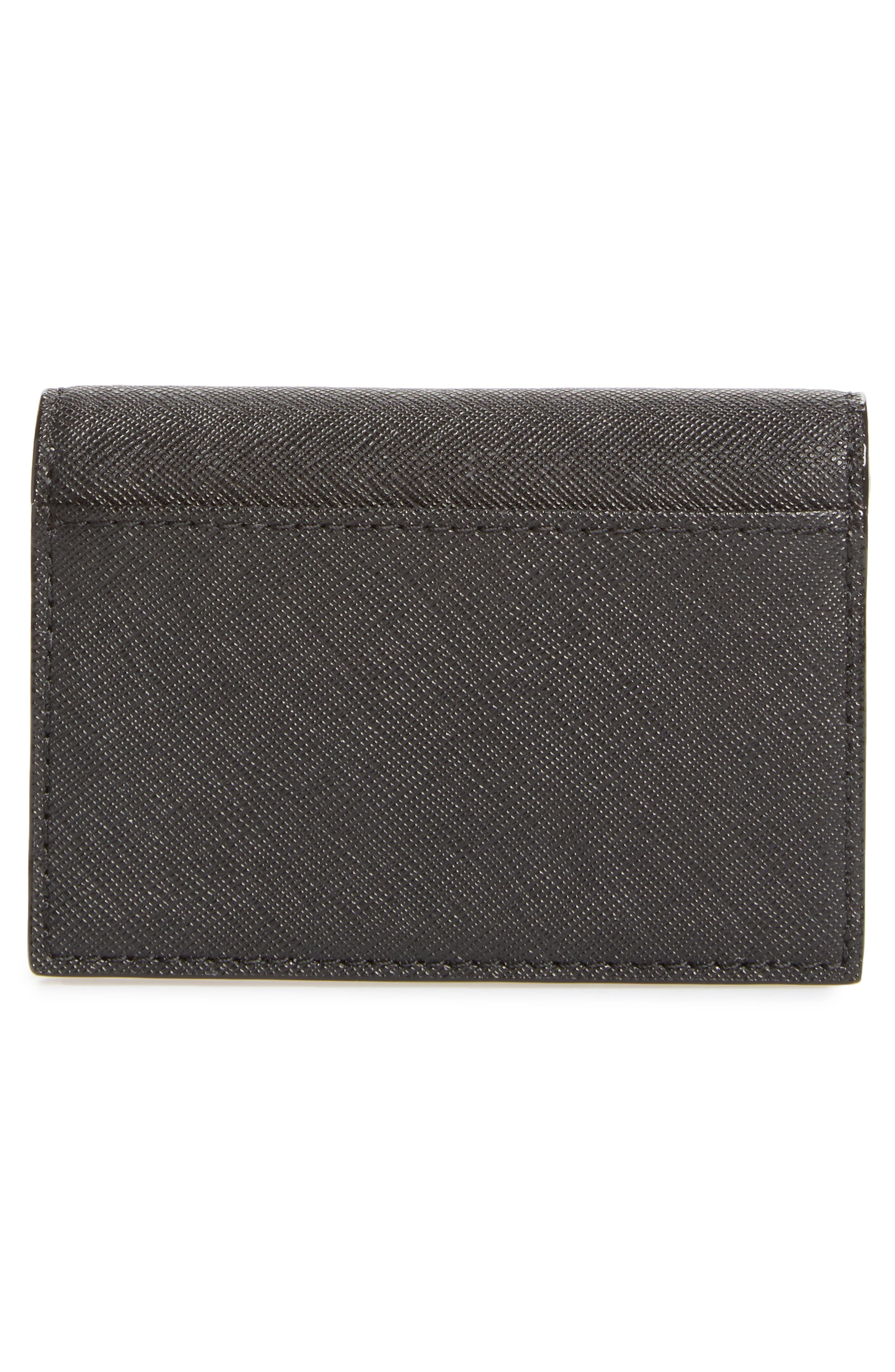 cameron street - annabella accordioned card case,                             Alternate thumbnail 4, color,                             Black/ Warm Vellum