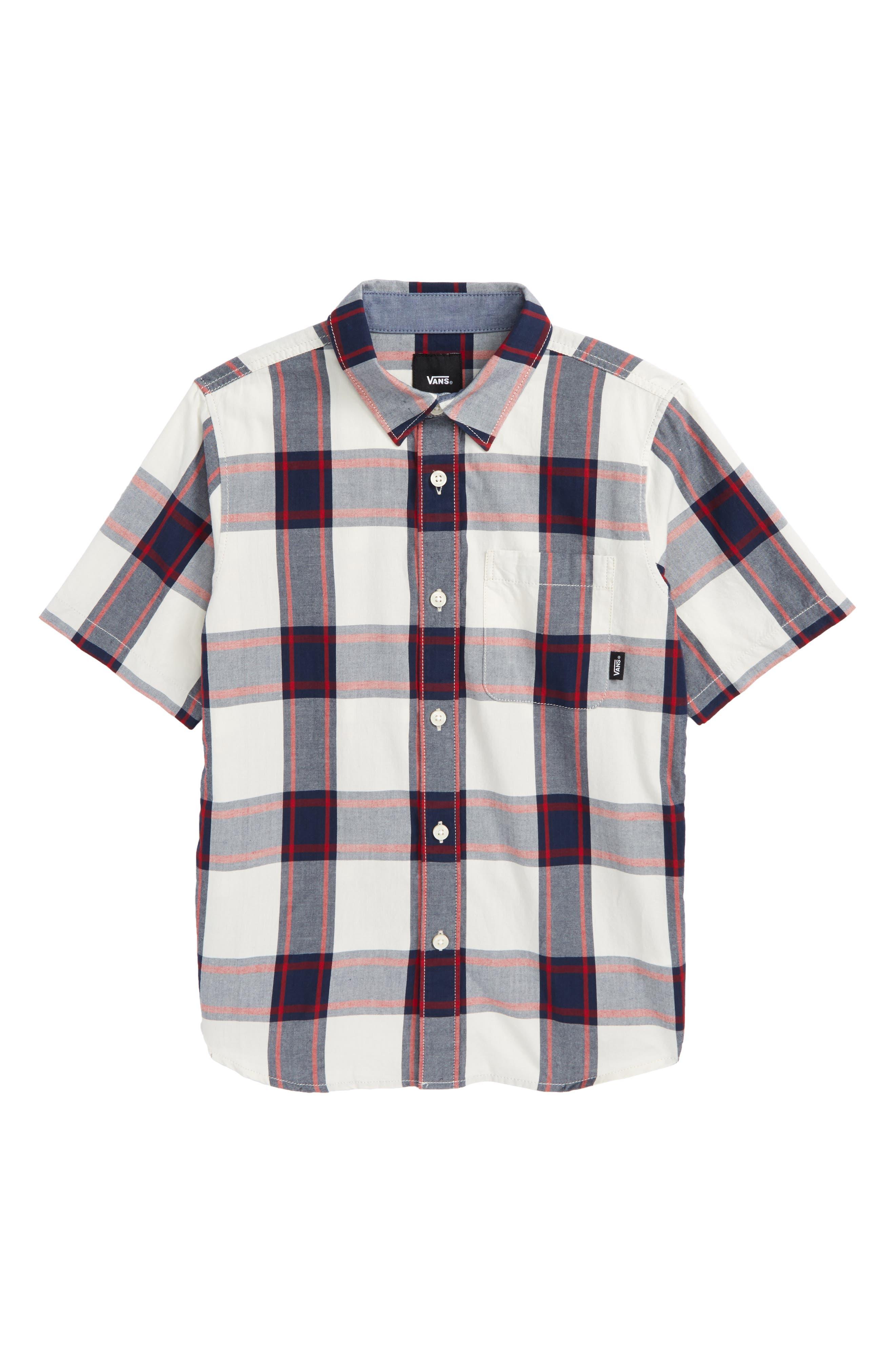 Vans Mayfield Plaid Woven Shirt (Big Boys)