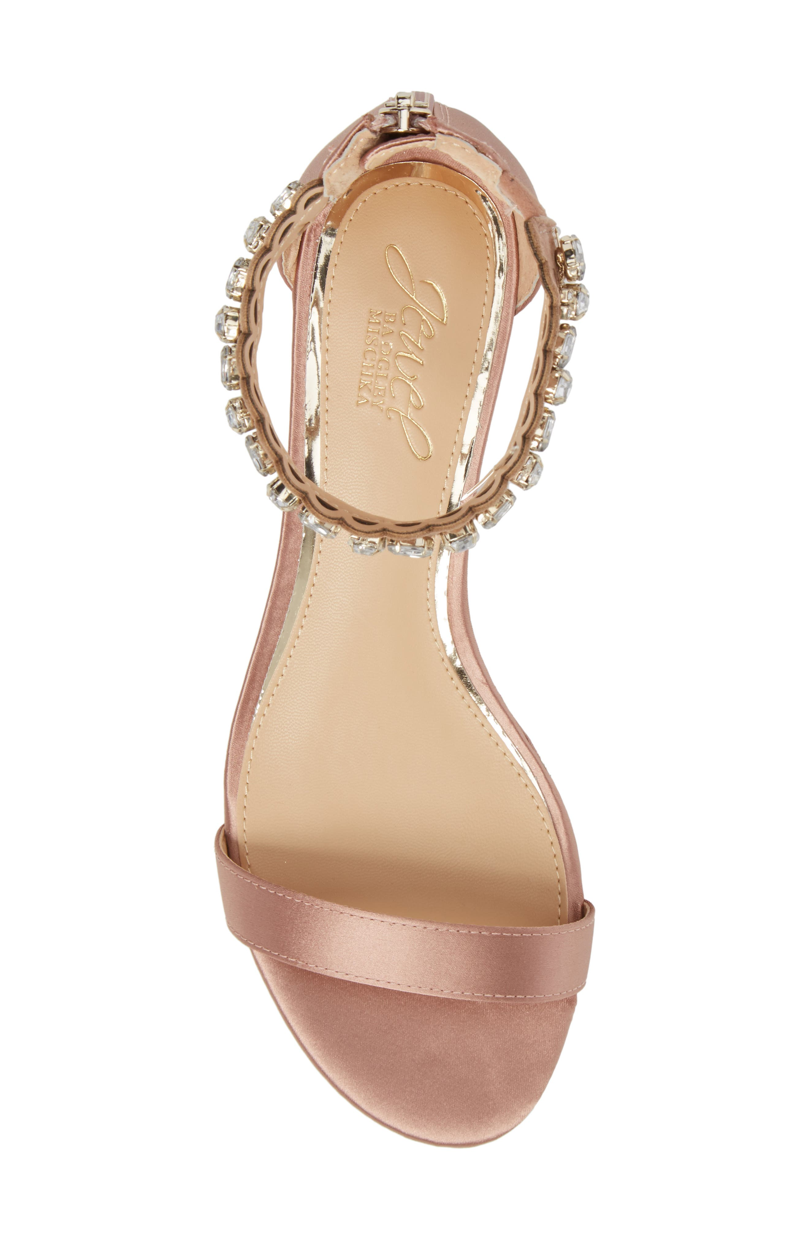 Ginger Wedge Sandal,                             Alternate thumbnail 5, color,                             Dark Blush