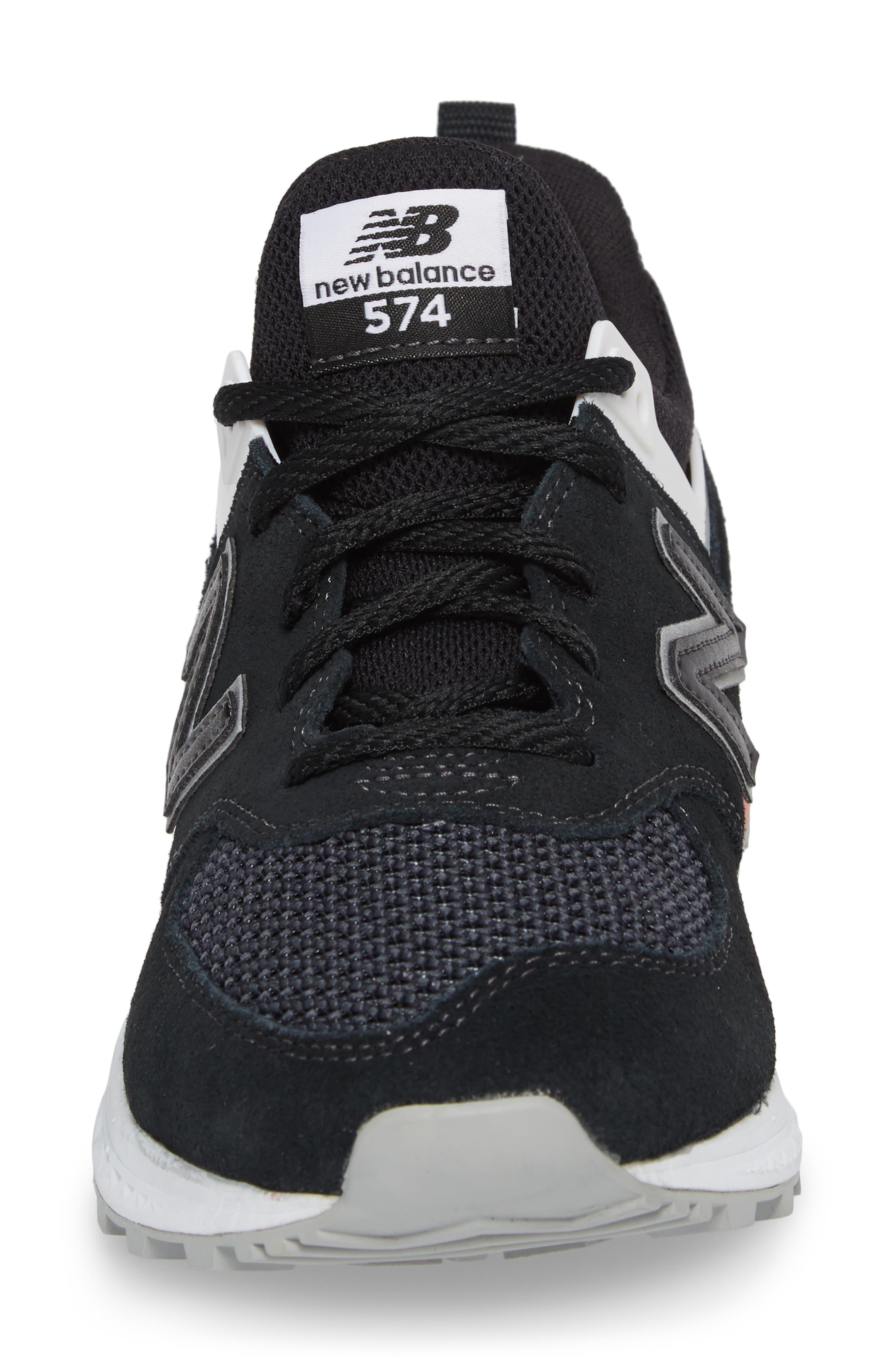574 T3 Sport Sneaker,                             Alternate thumbnail 4, color,                             Black