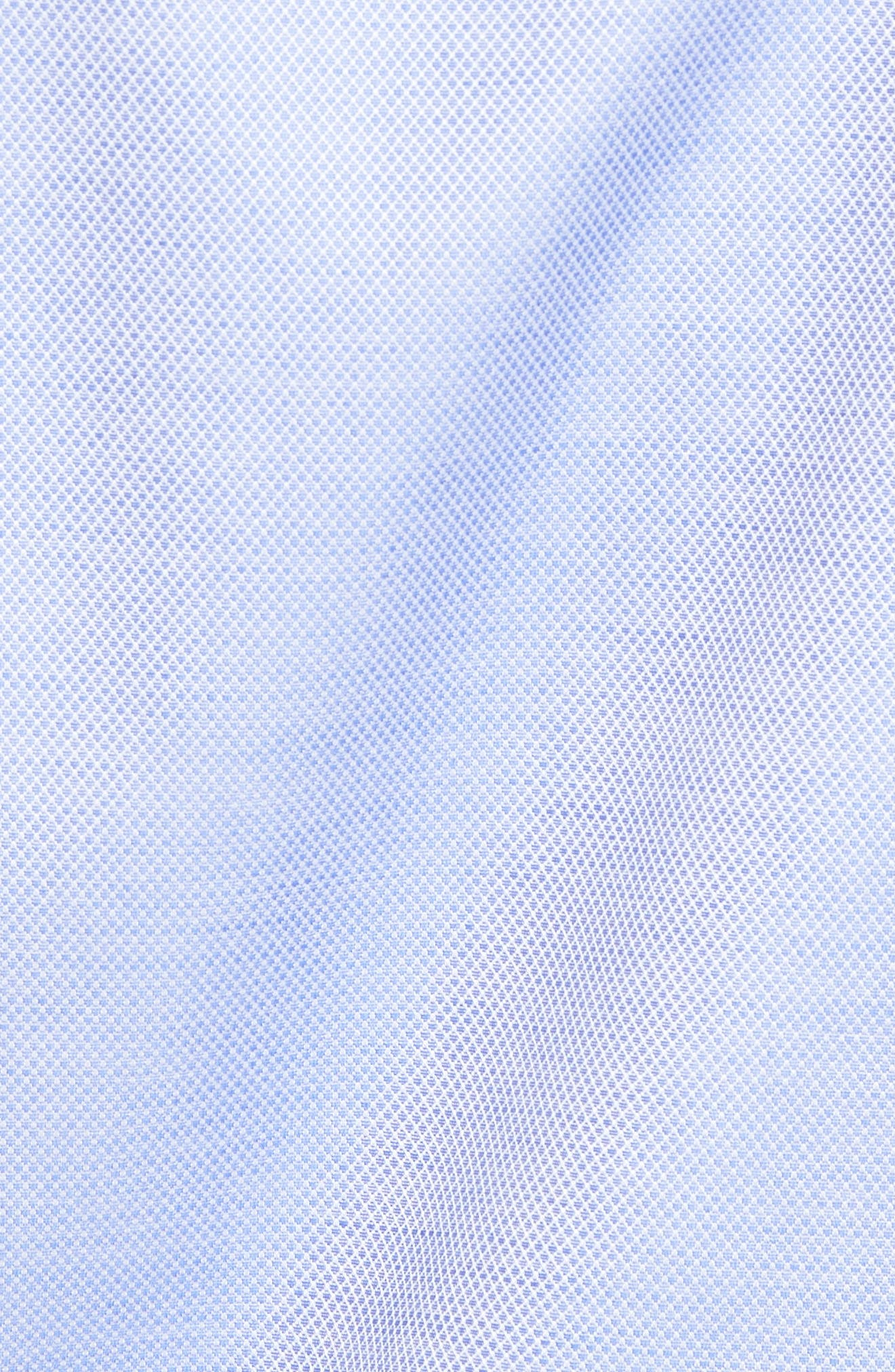 Micro Diamond Regular Fit Sport Shirt,                             Alternate thumbnail 5, color,                             Blue