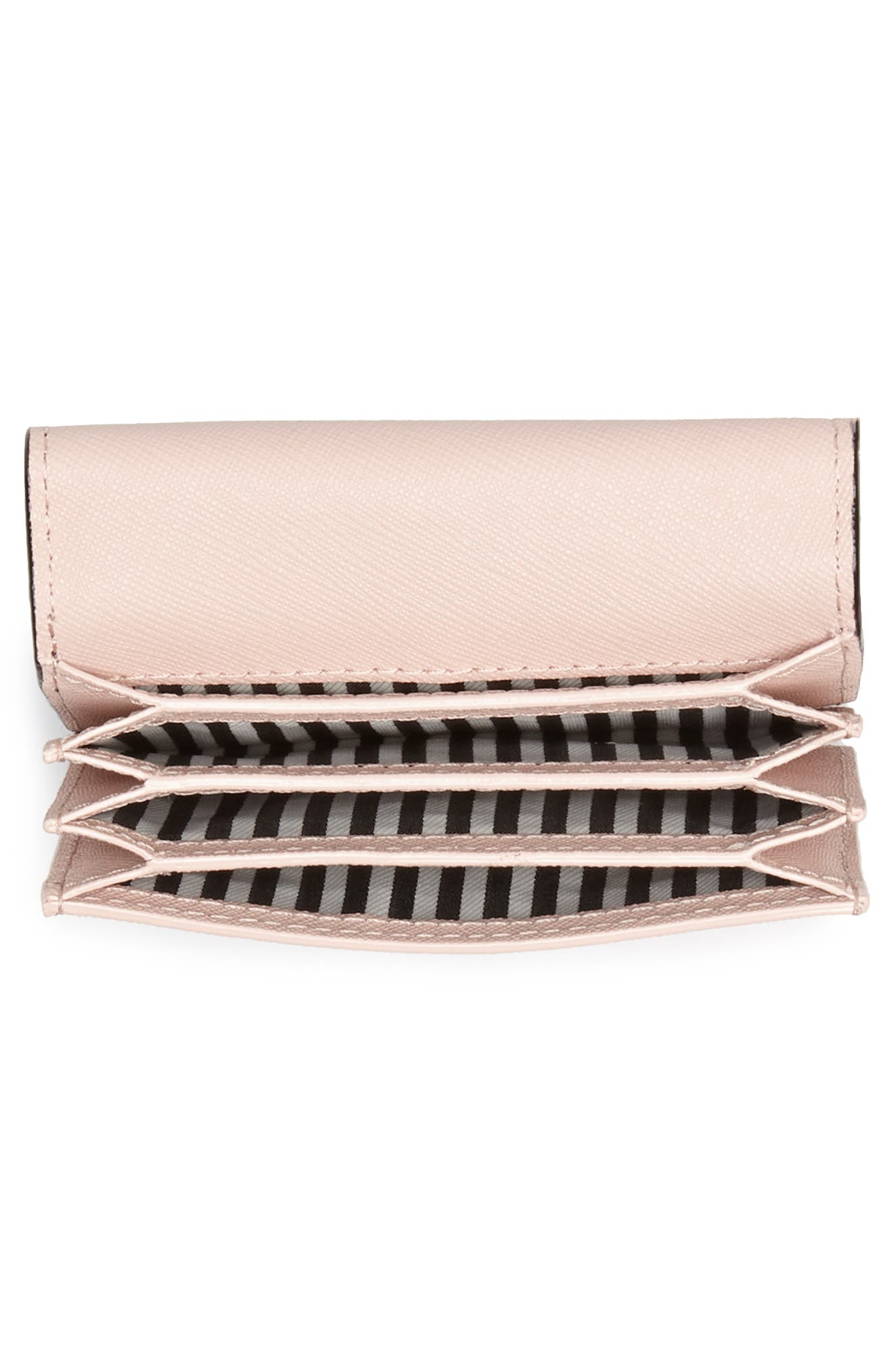 cameron street - annabella accordioned card case,                             Alternate thumbnail 2, color,                             Black/ Warm Vellum