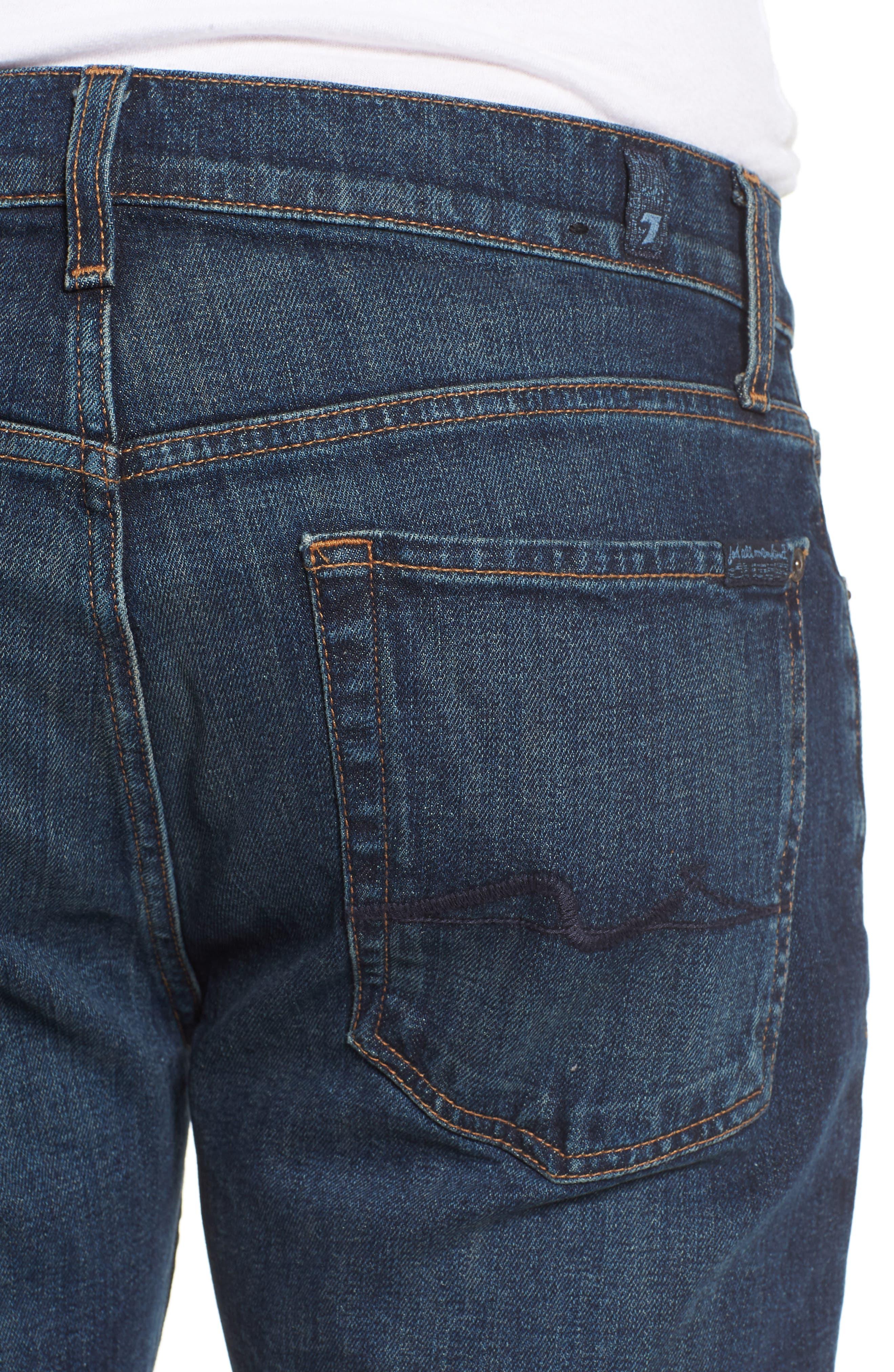 The Straight Slim Straight Leg Jeans,                             Alternate thumbnail 4, color,                             Mark Lane