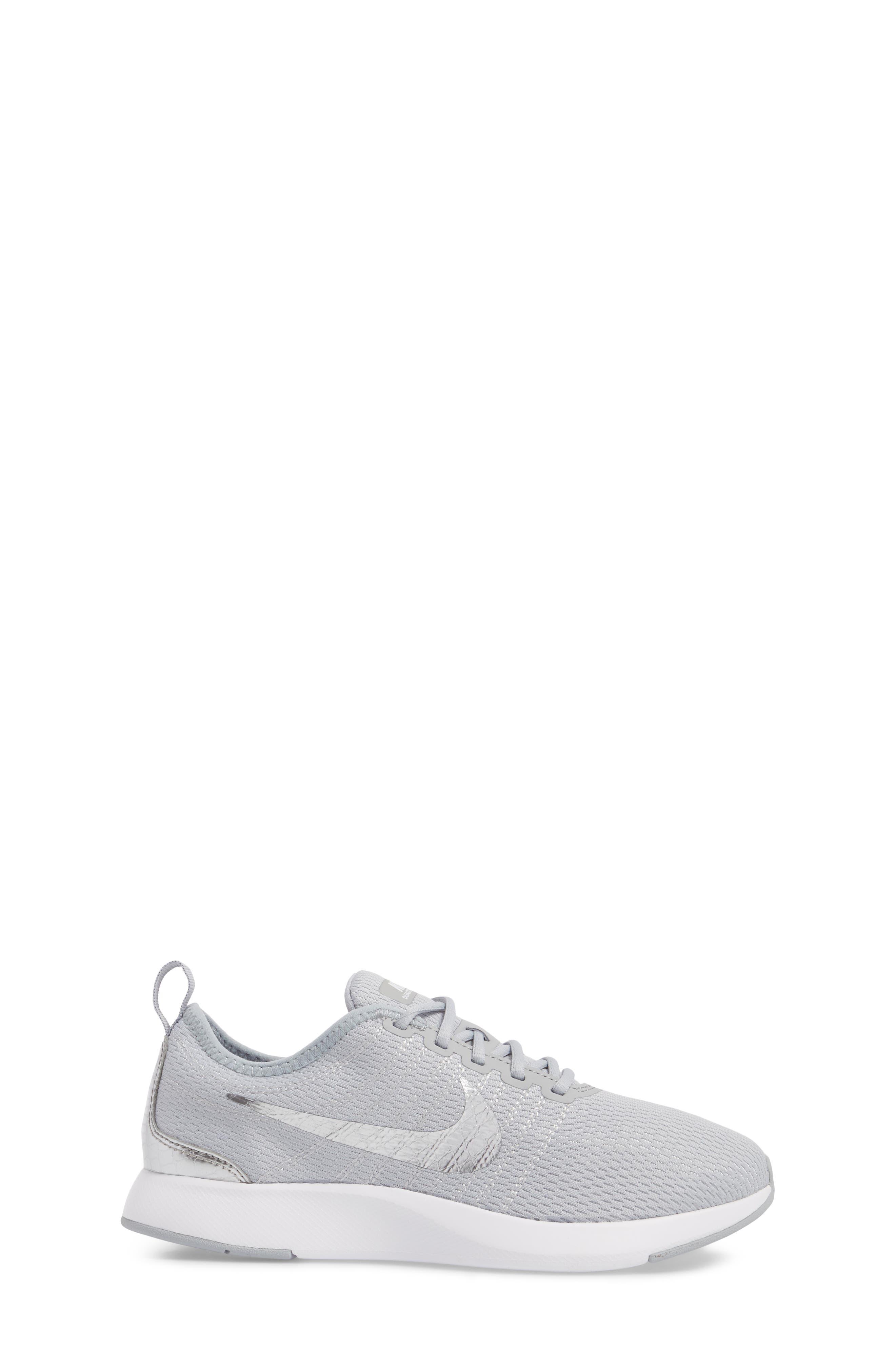 Dualtone Racer GS Sneaker,                             Alternate thumbnail 3, color,                             Wolf Grey/ Metallic Silver