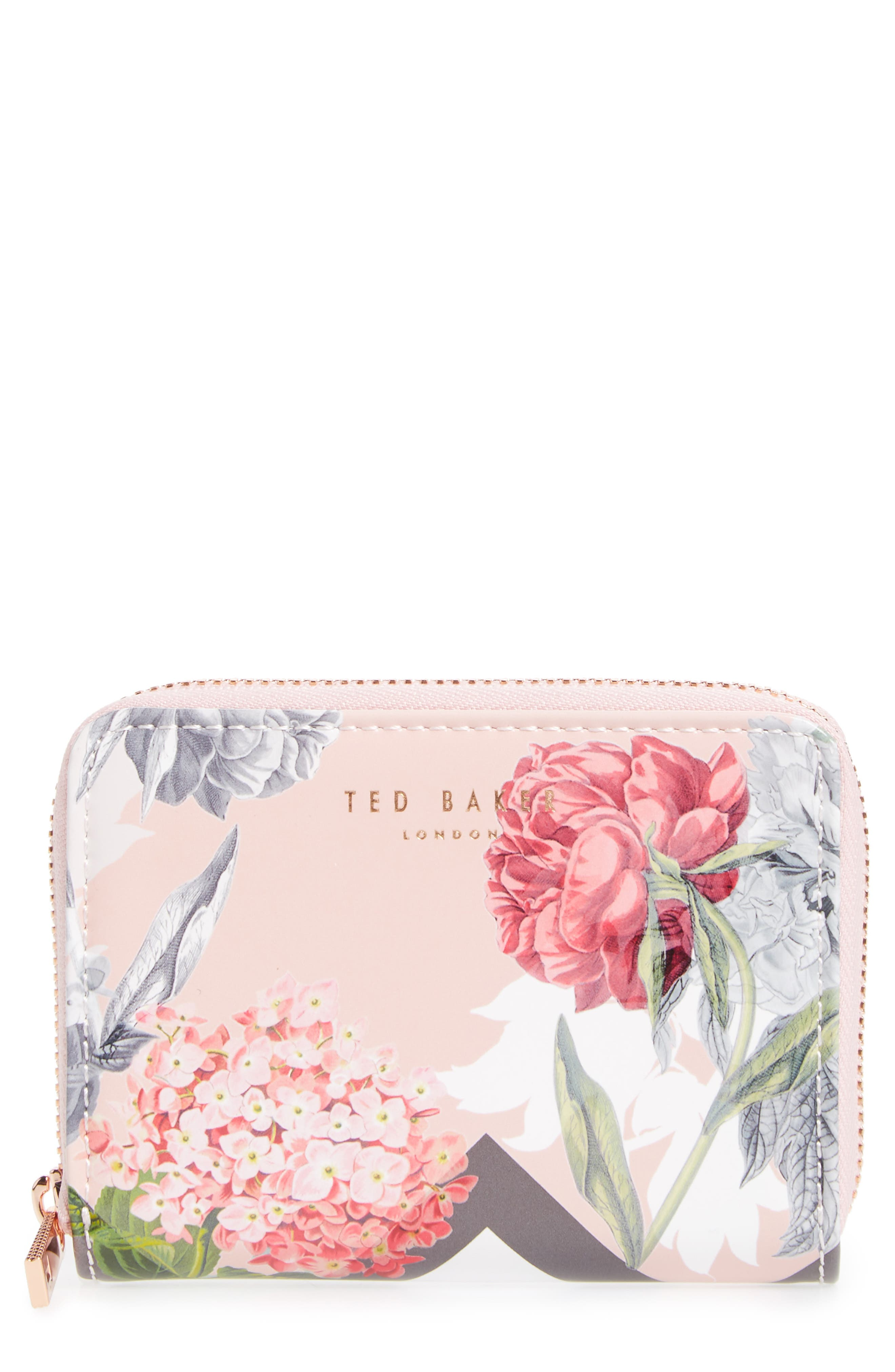 Ted Baker London Darla Palace Gardens Leather Zip Coin Purse