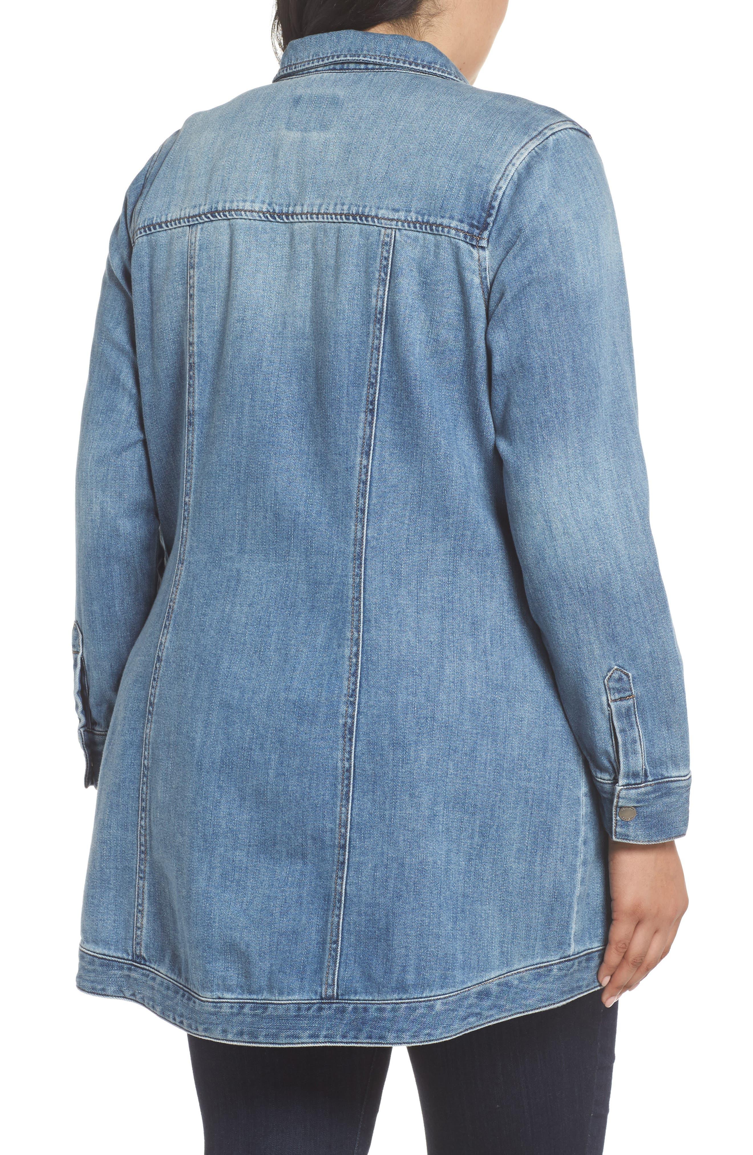 Long Denim Shirt Jacket,                             Alternate thumbnail 2, color,                             Sutter Wash