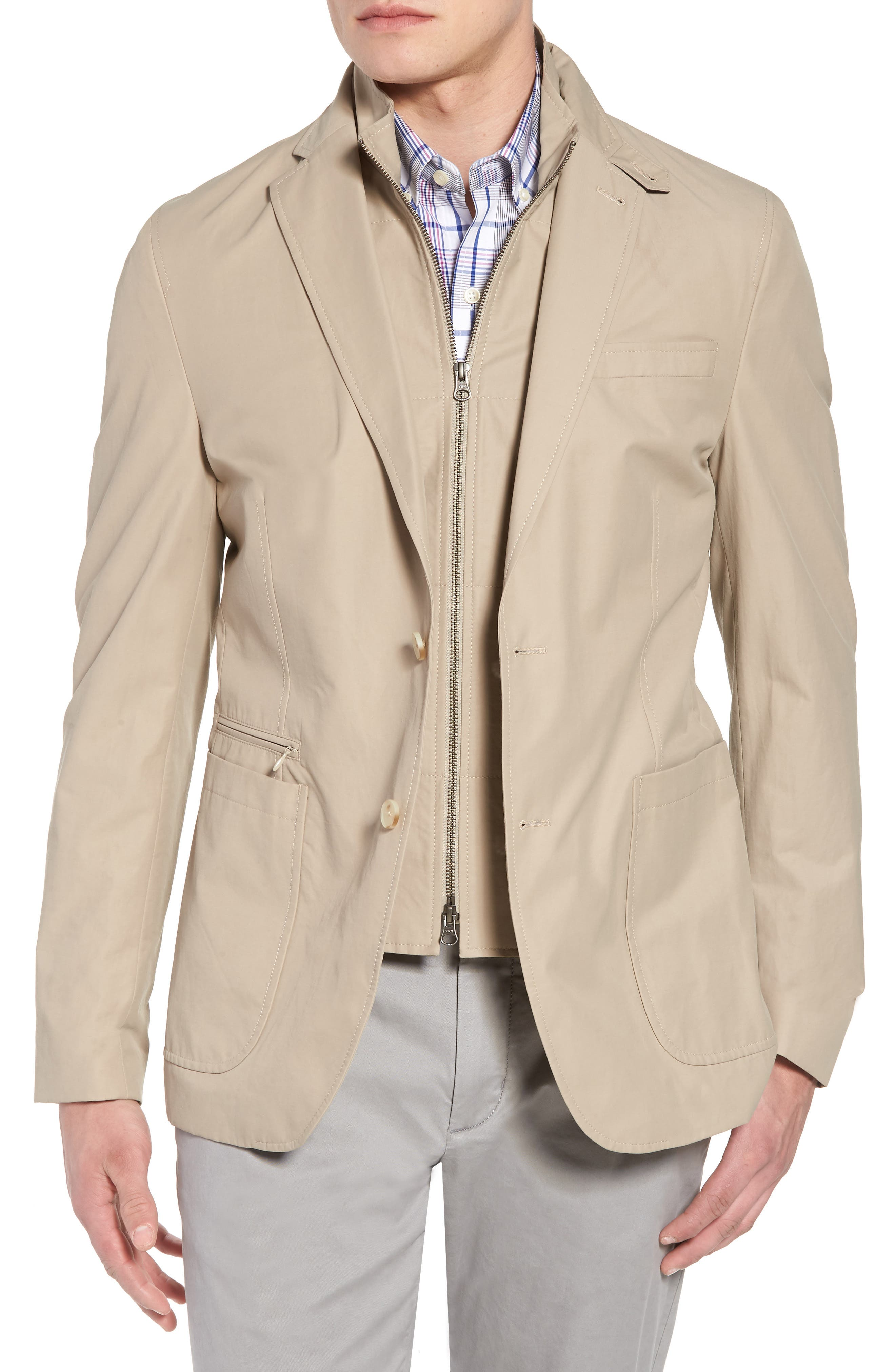 Jones AIM Classic Fit Hybrid Blazer,                             Main thumbnail 1, color,                             Tan