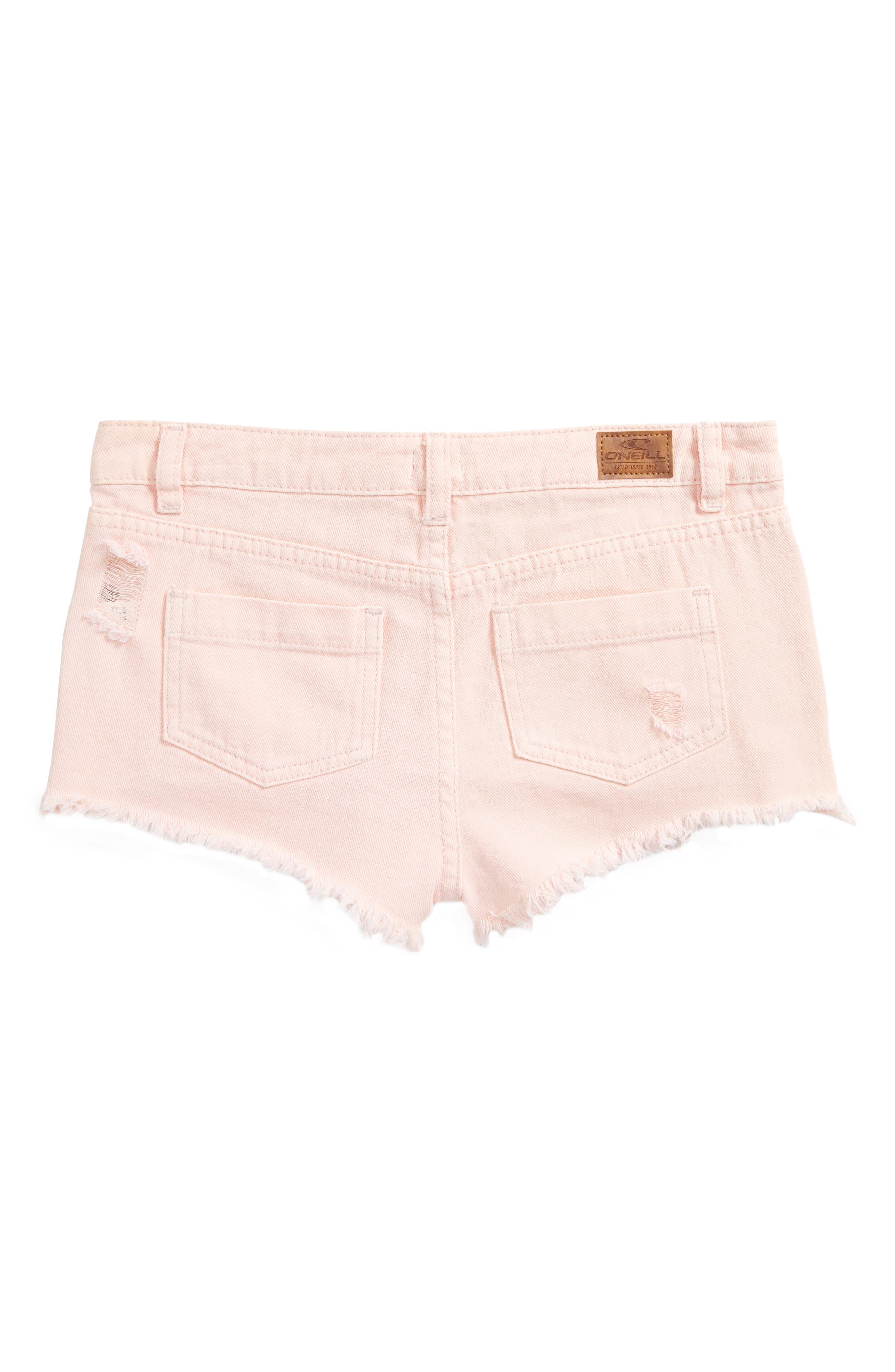 Islas Denim Shorts,                             Alternate thumbnail 2, color,                             Pastel Lavender