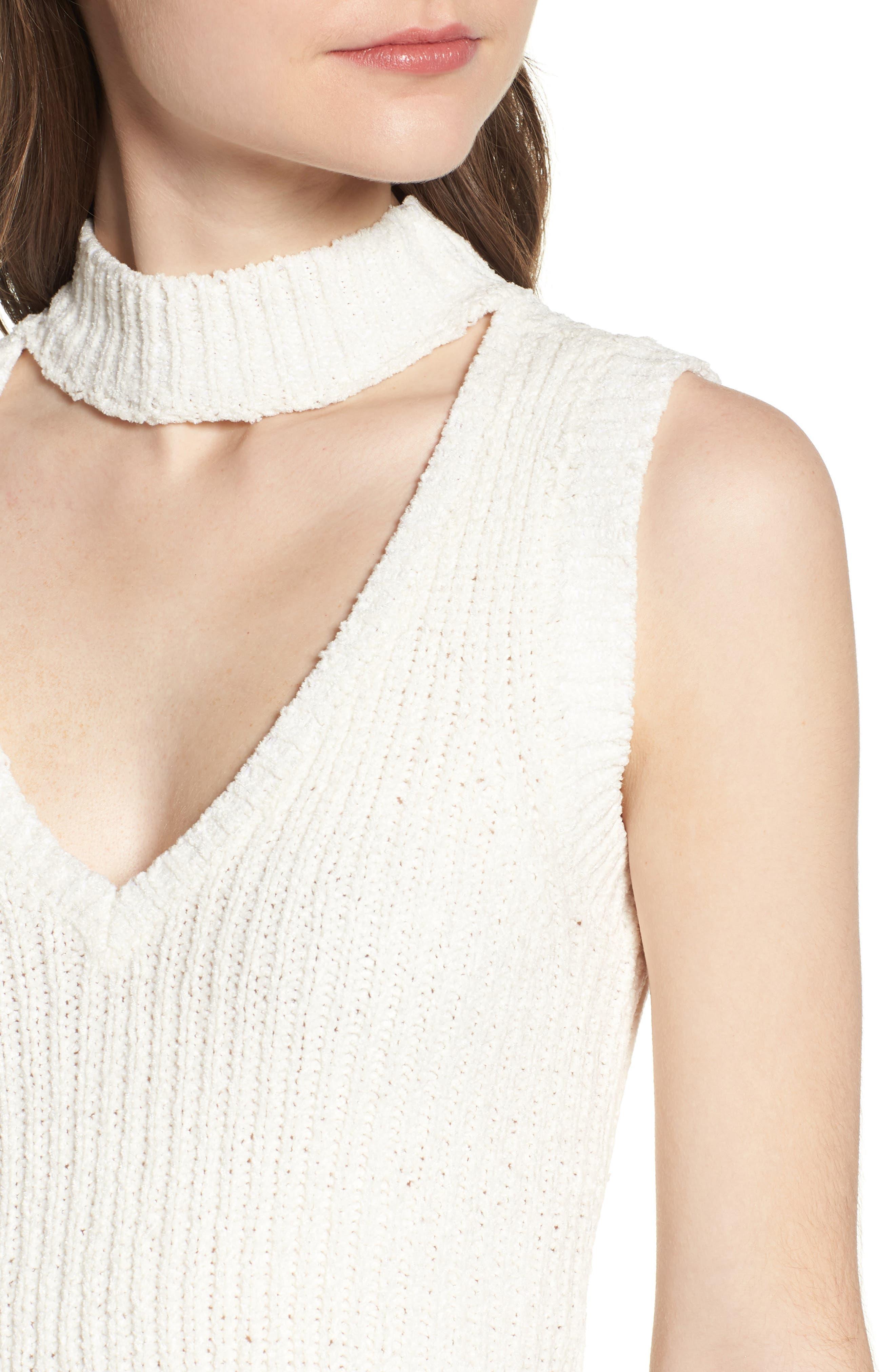 Camdon Sleeveless Sweater,                             Alternate thumbnail 4, color,                             Ivory