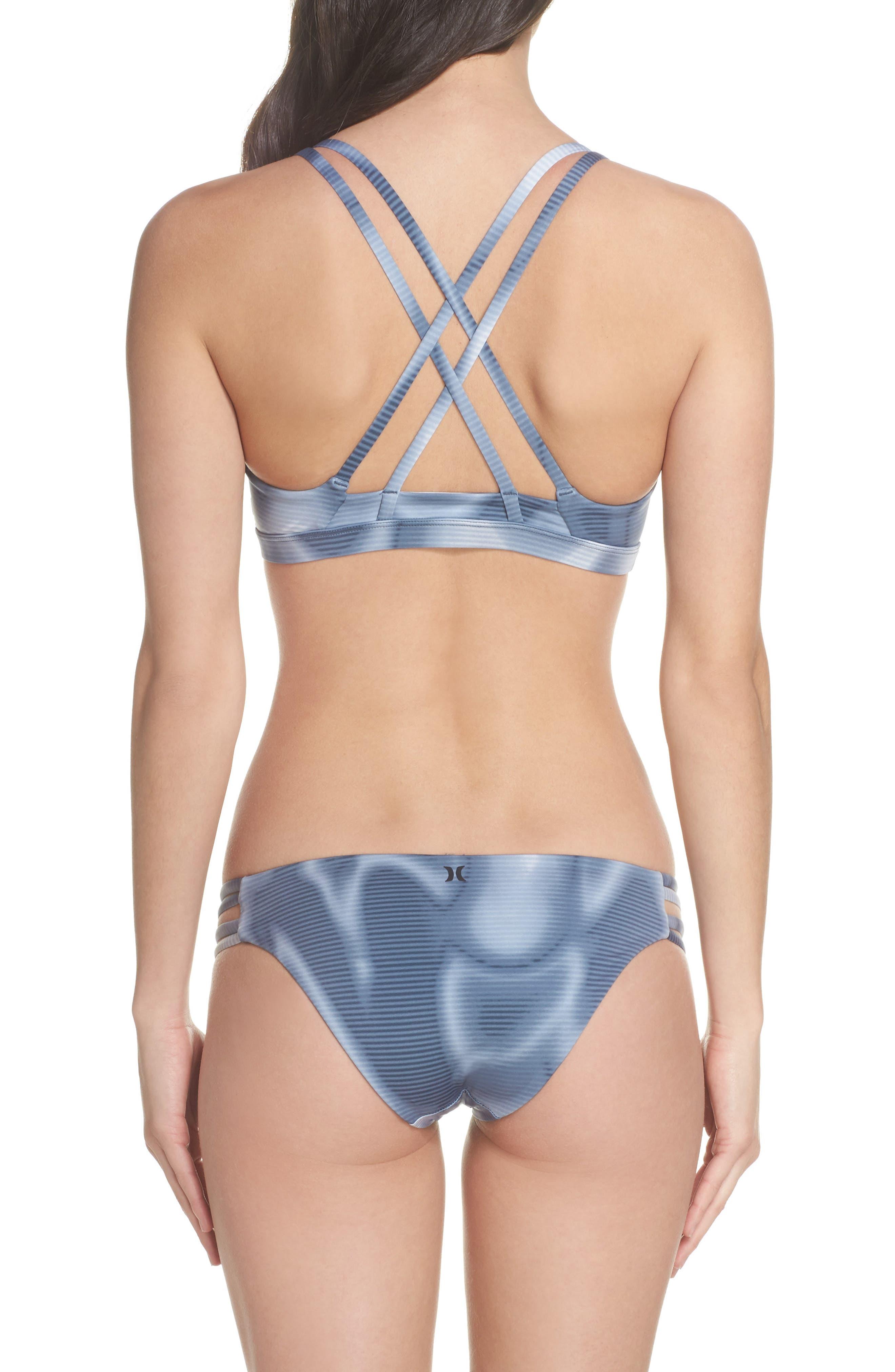 Quick Dry Max Waves Bikini Top,                             Alternate thumbnail 6, color,                             Squadron Blue