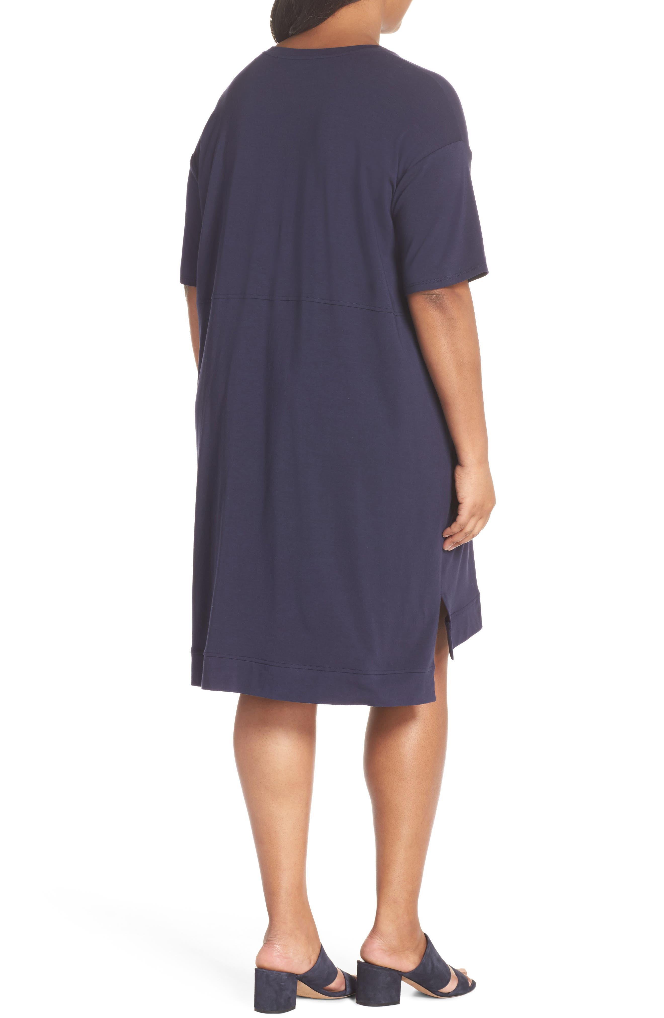 Knit Jersey Dress,                             Alternate thumbnail 2, color,                             Midnight