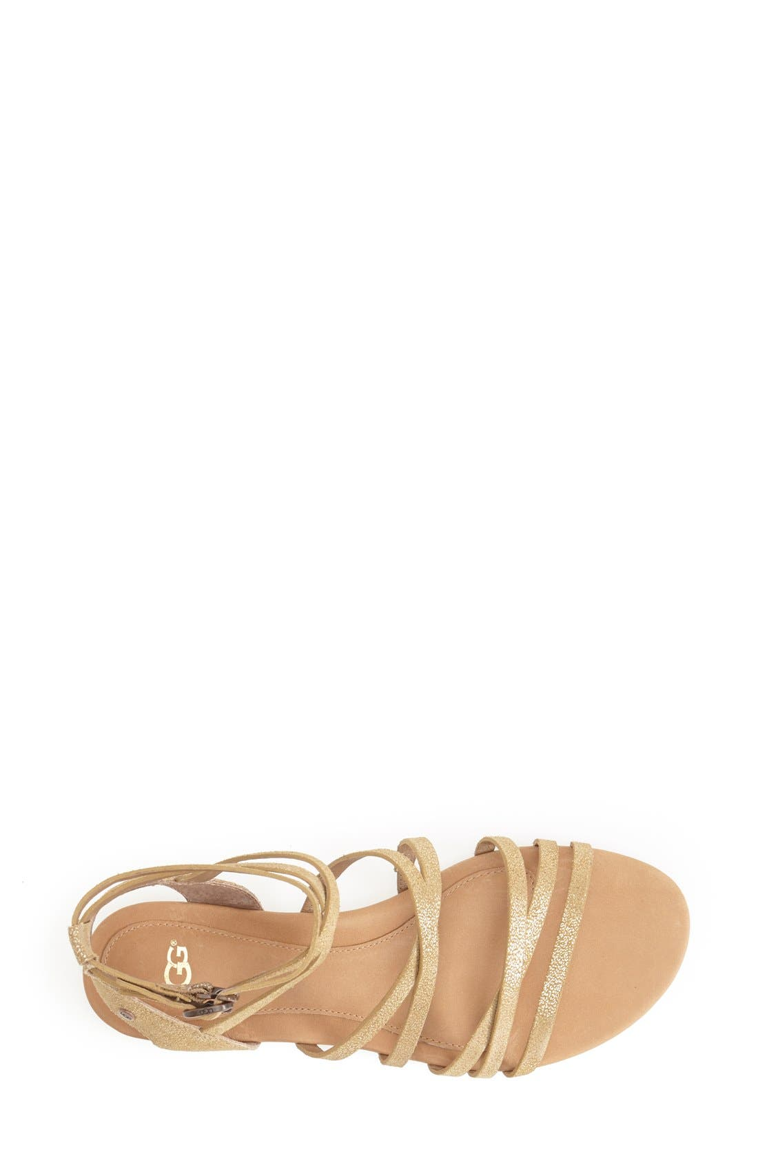Alternate Image 3  - UGG® Australia 'Devie' Metallic Leather Sandal (Women)