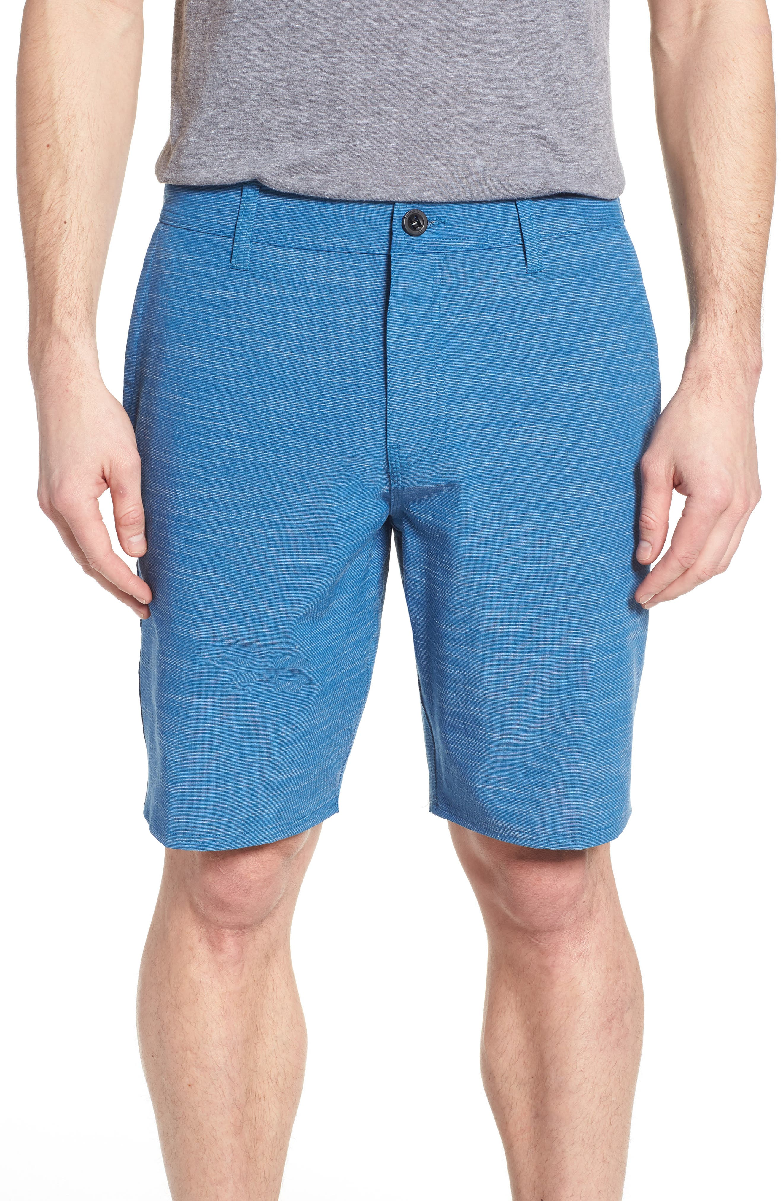 Locked Slub Hybrid Shorts,                         Main,                         color, Air Force Blue
