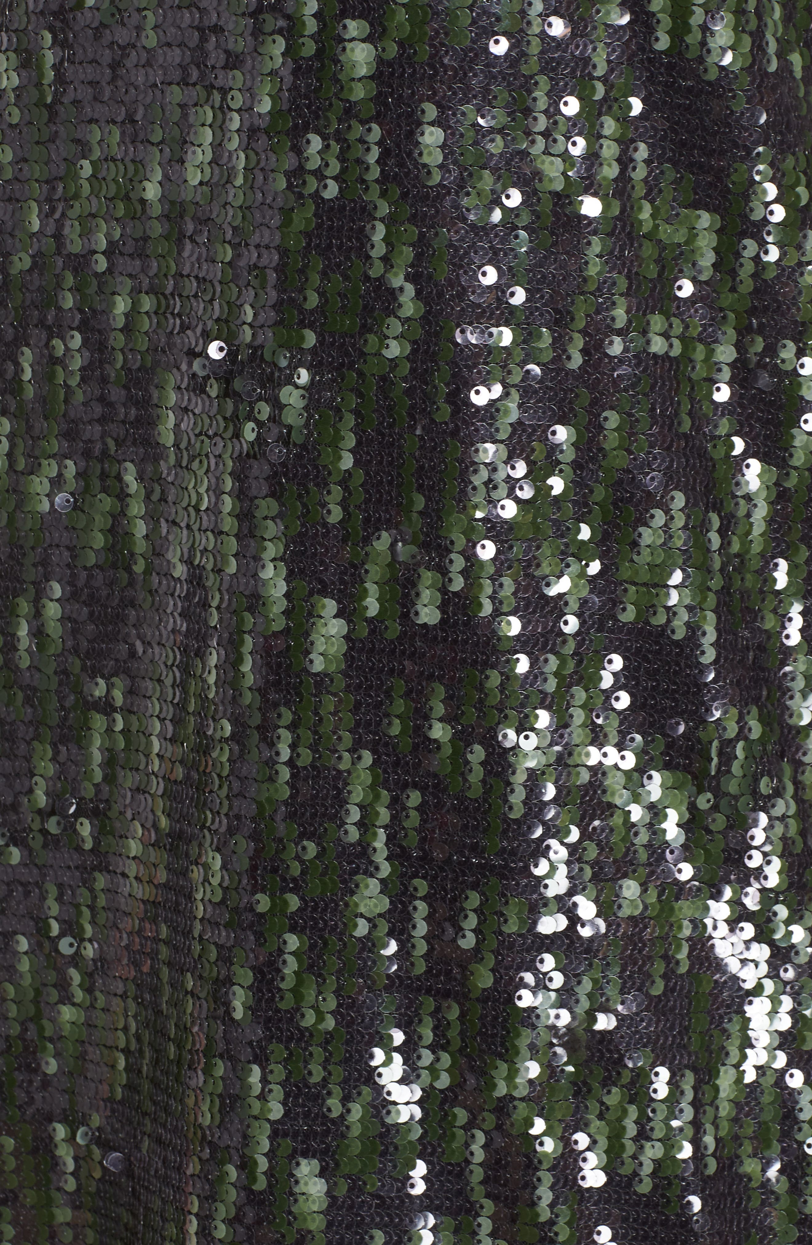 Camo Sequin Dress,                             Alternate thumbnail 5, color,                             Black/ Green