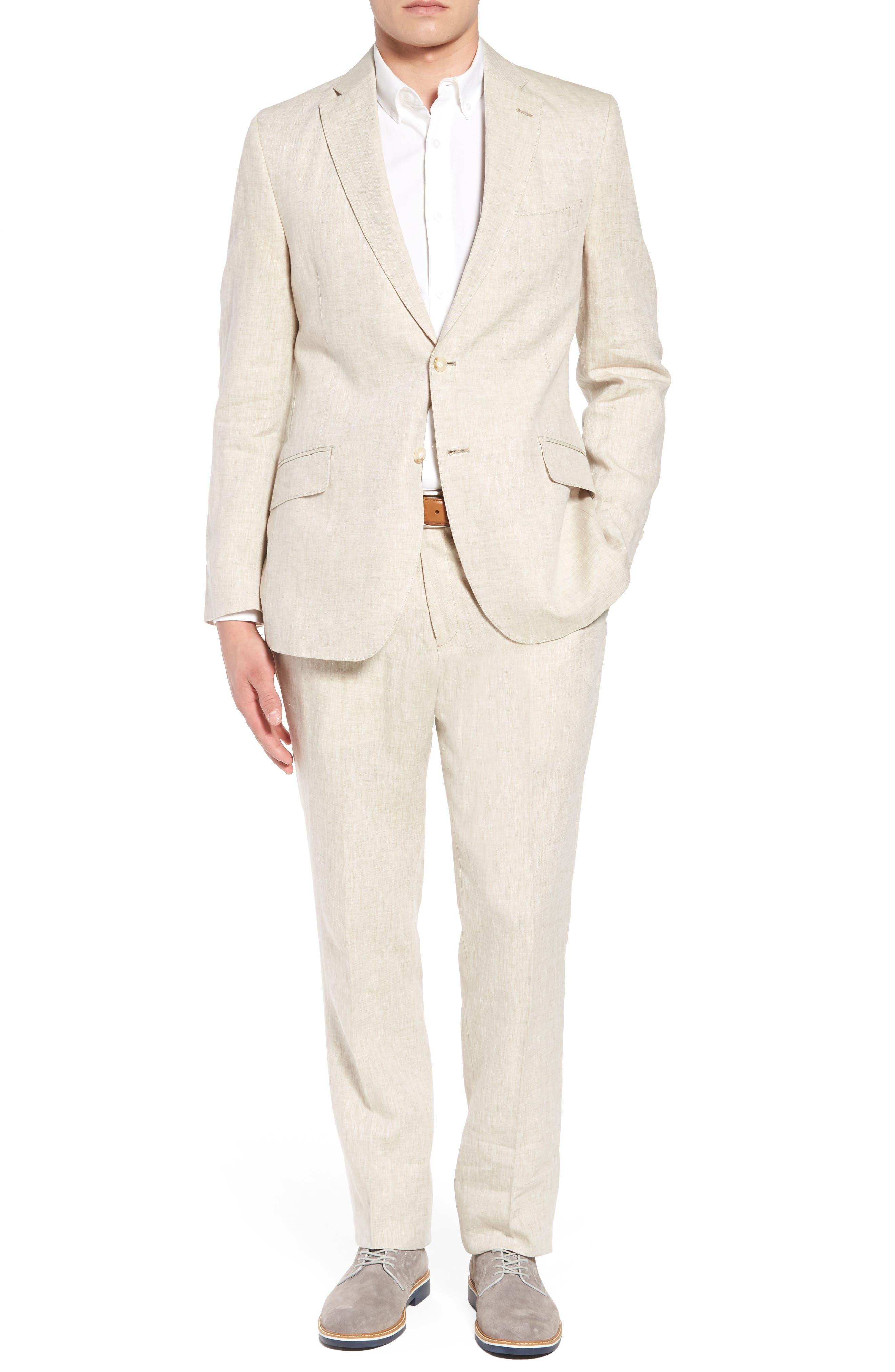 Jack AIM Classic Fit Linen Blazer,                             Alternate thumbnail 7, color,                             Natural