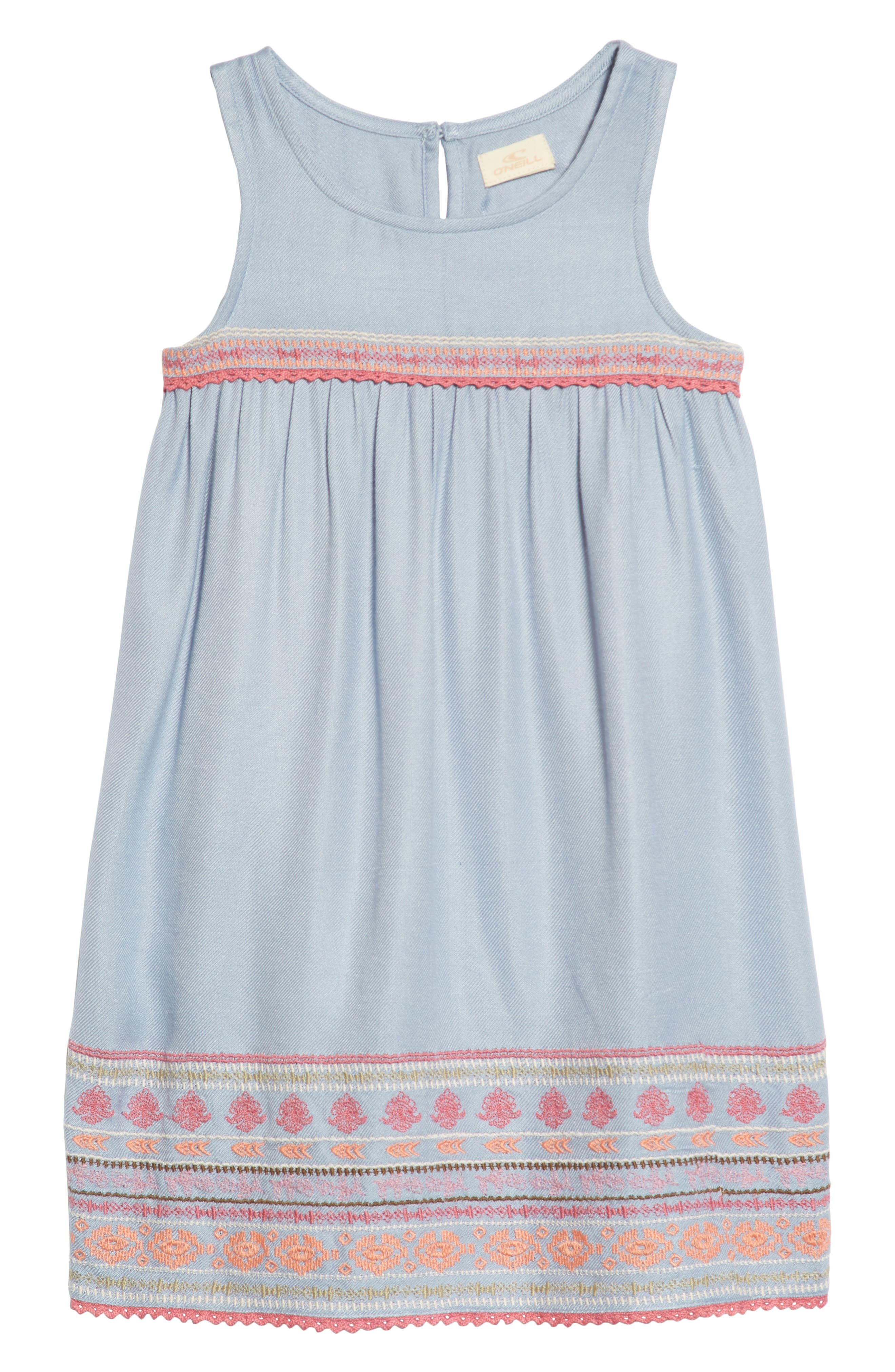 Dani Dress,                         Main,                         color, Bleached Periwinkle