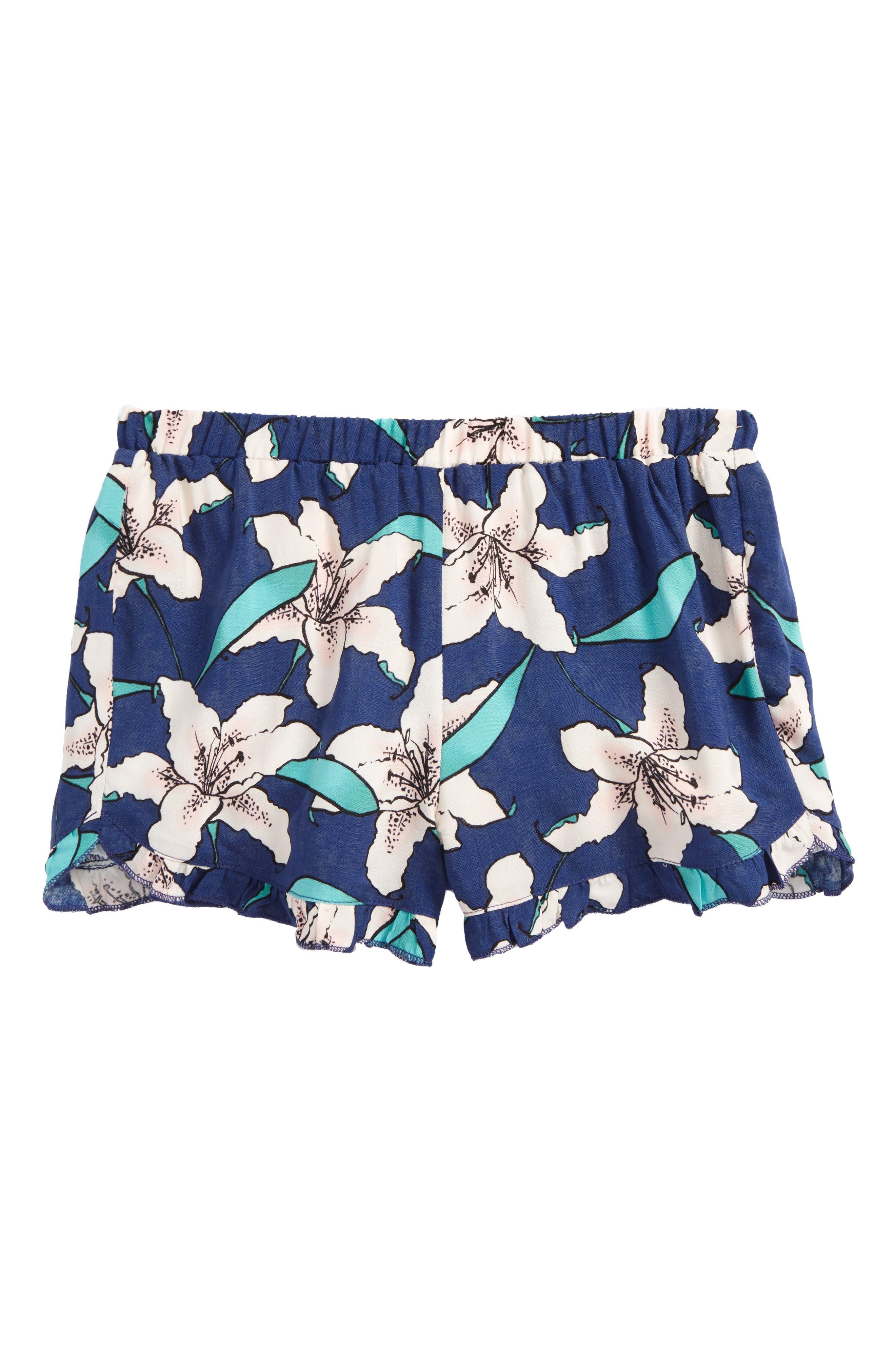 Winnie Floral Shorts,                         Main,                         color, Estate Blue